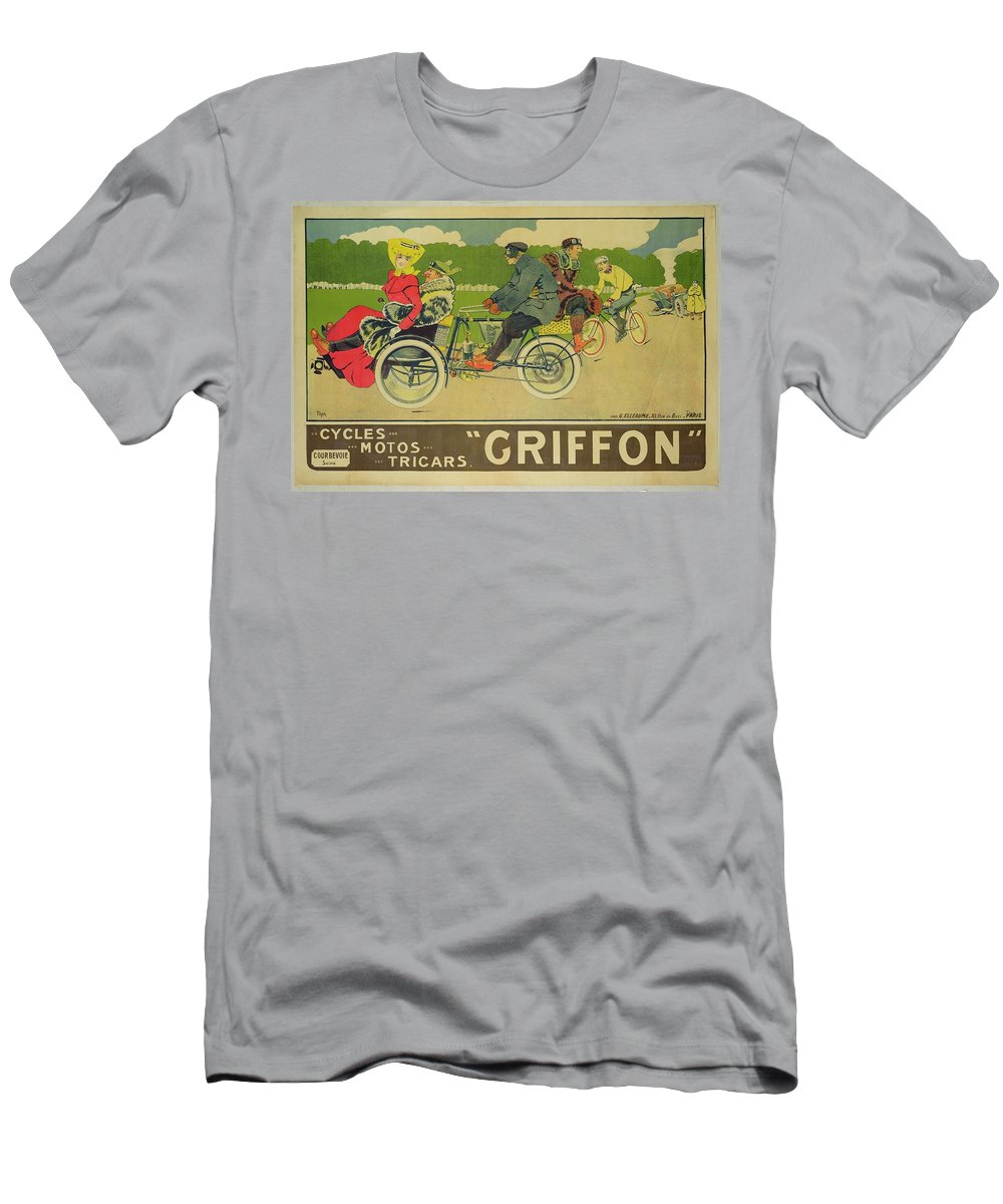 Bikes Men's T-Shirt (Athletic Fit) featuring the painting Vintage Poster Bicycle Advertisement by Walter Thor