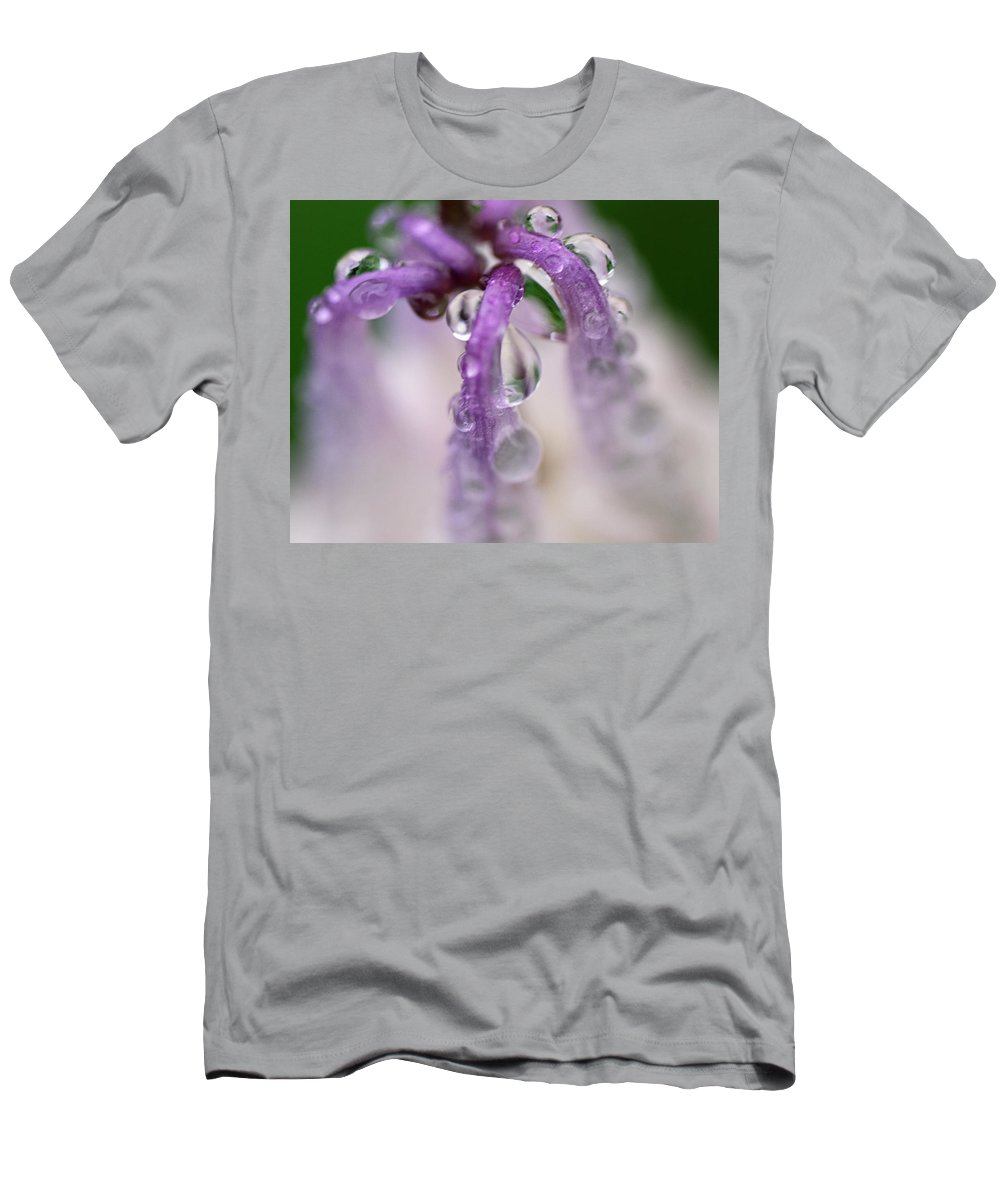 Nature Men's T-Shirt (Athletic Fit) featuring the photograph Violet Mist by Susan Capuano