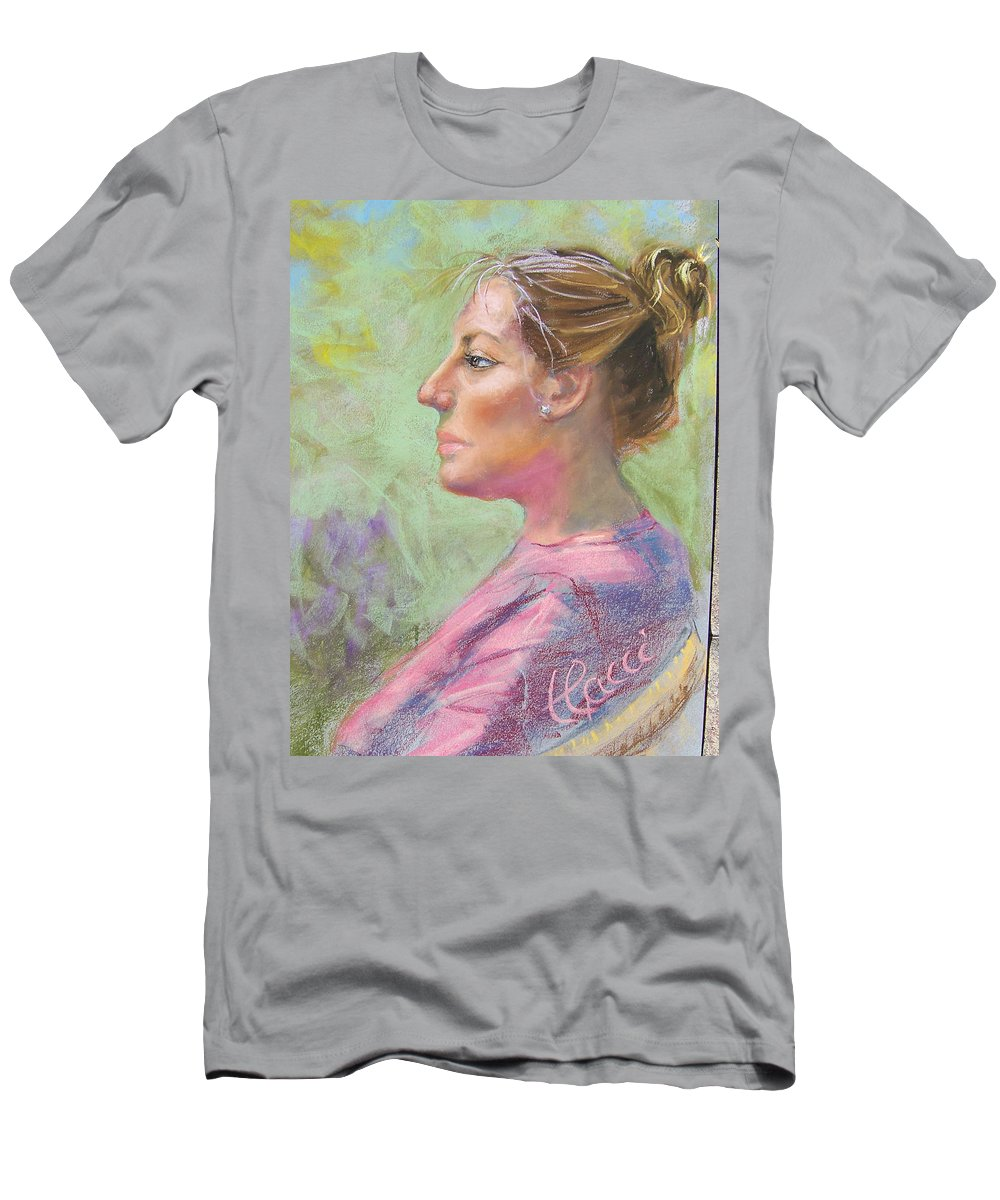 Portrait Men's T-Shirt (Athletic Fit) featuring the painting Virginia by Laurie Paci