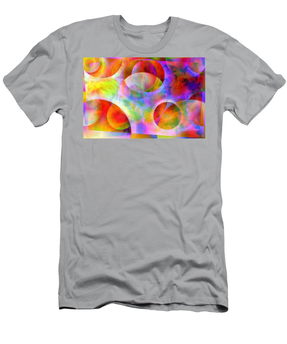 Colors T-Shirt featuring the digital art Vision 29 by Jacques Raffin