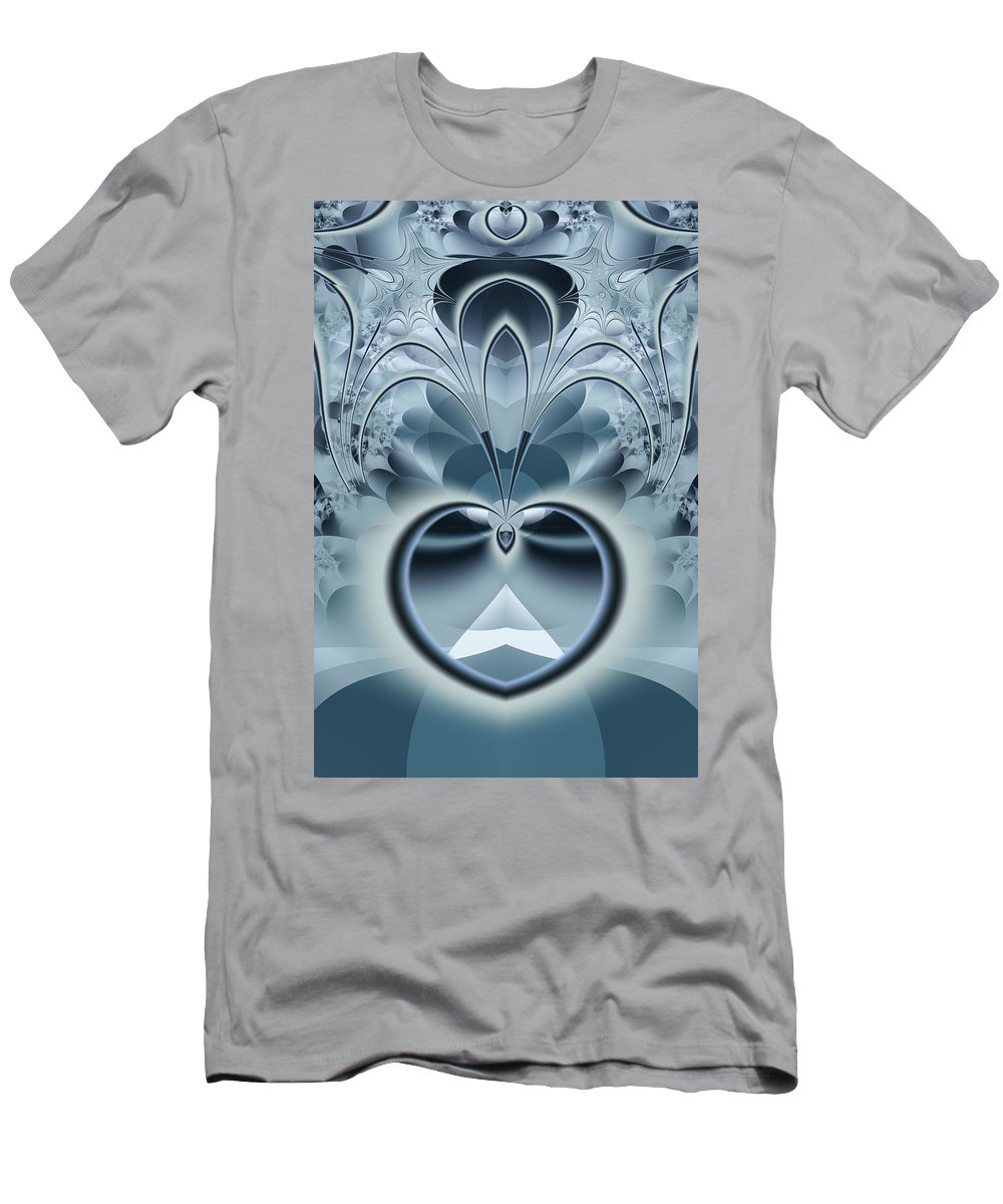 Fractal Men's T-Shirt (Athletic Fit) featuring the digital art Vision by Frederic Durville