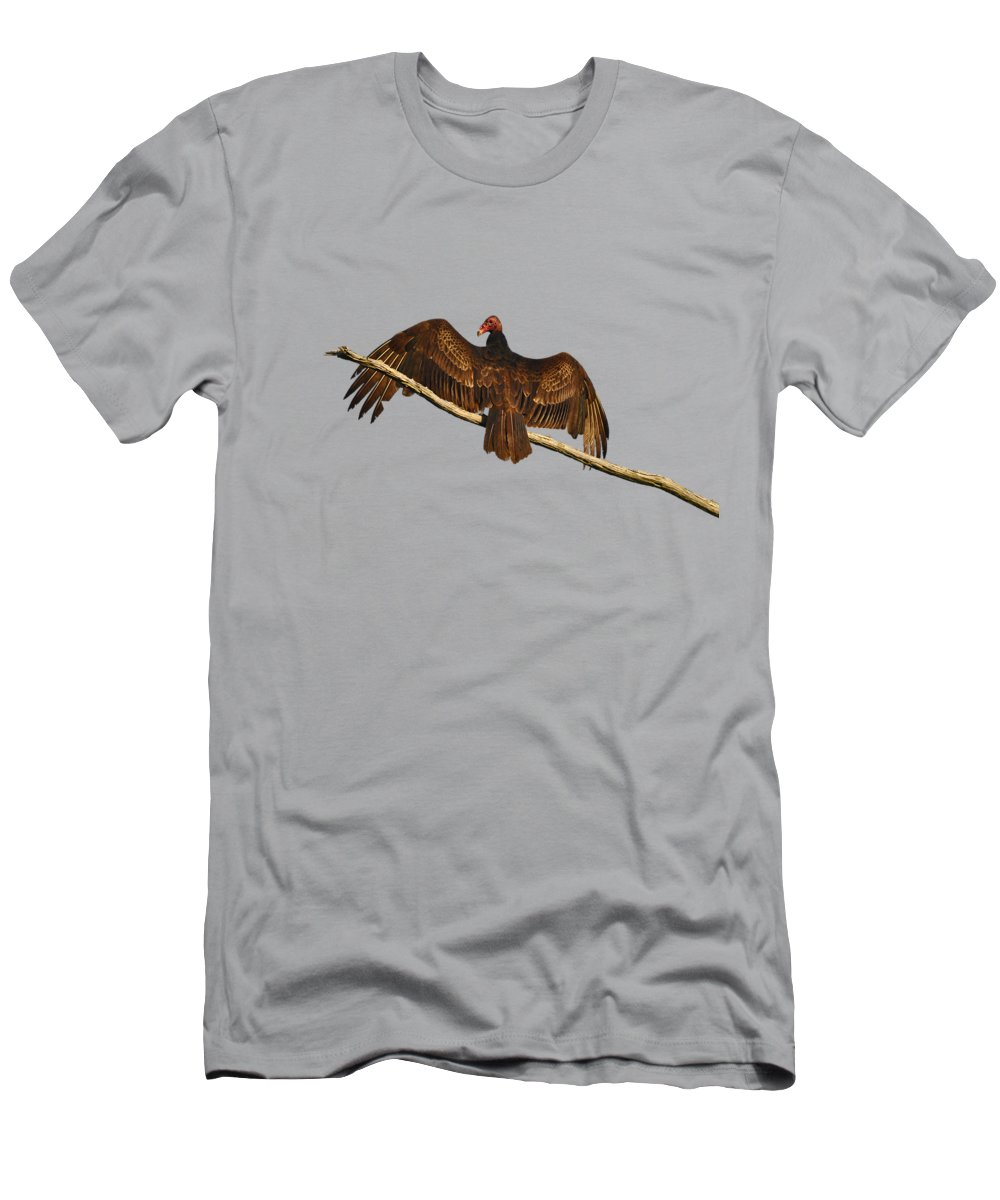 Vulture Men's T-Shirt (Athletic Fit) featuring the photograph Vivid Vulture .png by Al Powell Photography USA