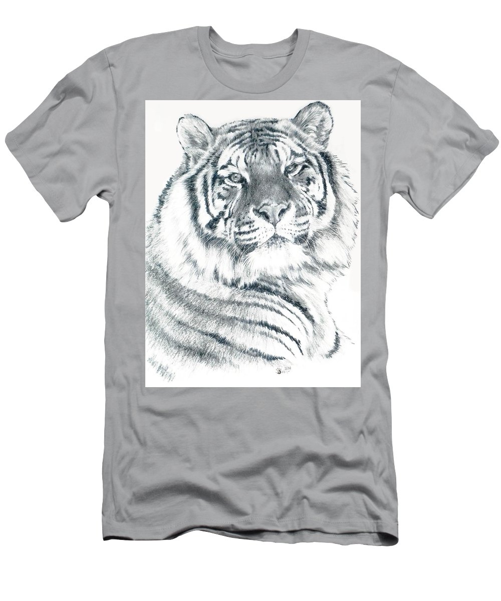 Tiger T-Shirt featuring the drawing Voyager by Barbara Keith