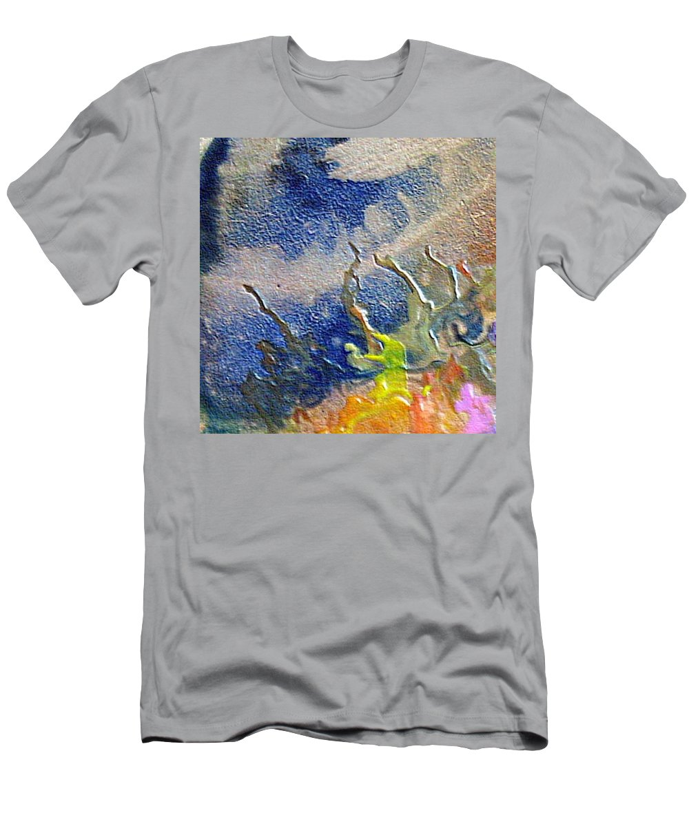 Coral Men's T-Shirt (Athletic Fit) featuring the painting W 020 - The Coral by Dragica Micki Fortuna