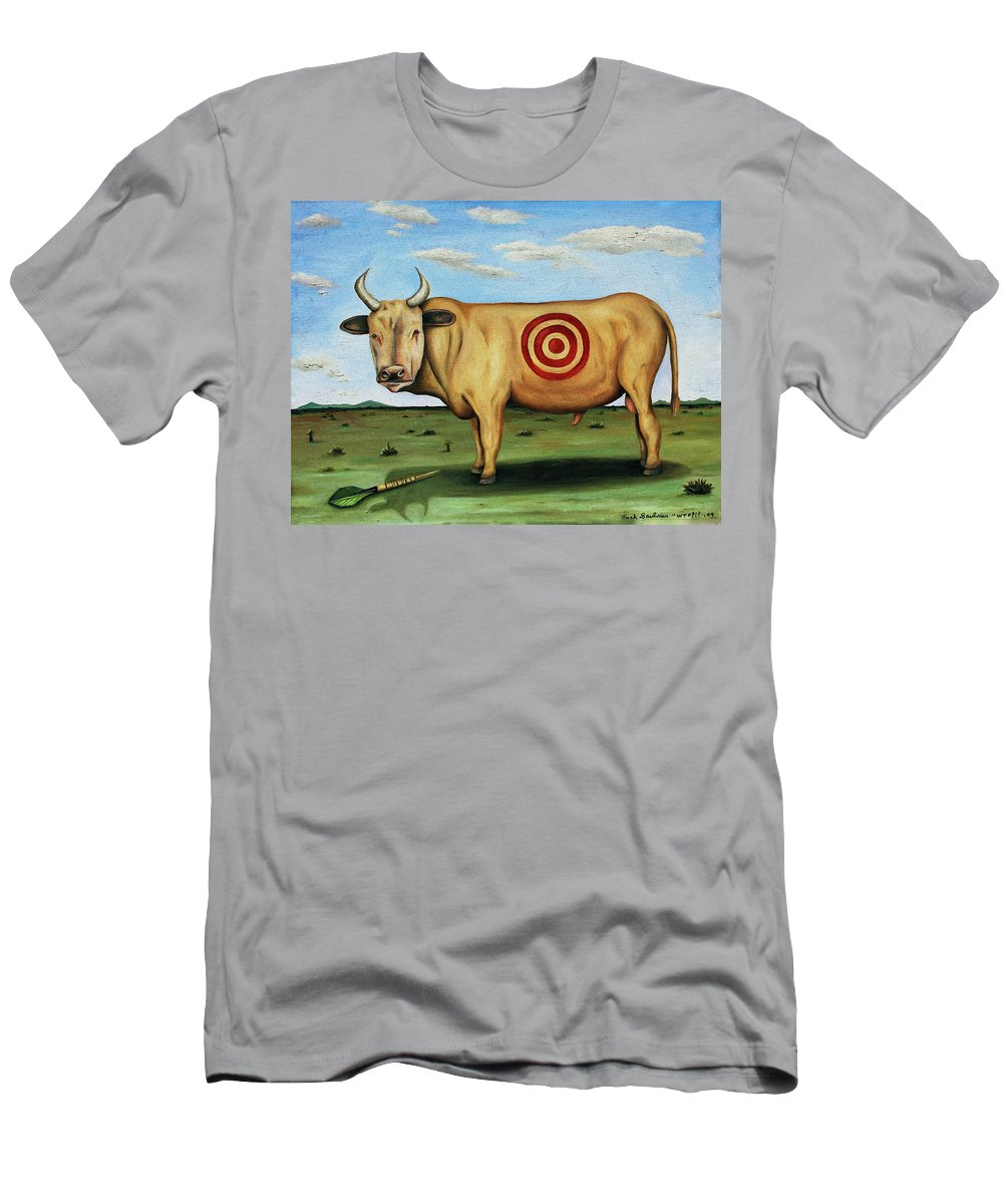 Bull Men's T-Shirt (Athletic Fit) featuring the painting W T F by Leah Saulnier The Painting Maniac