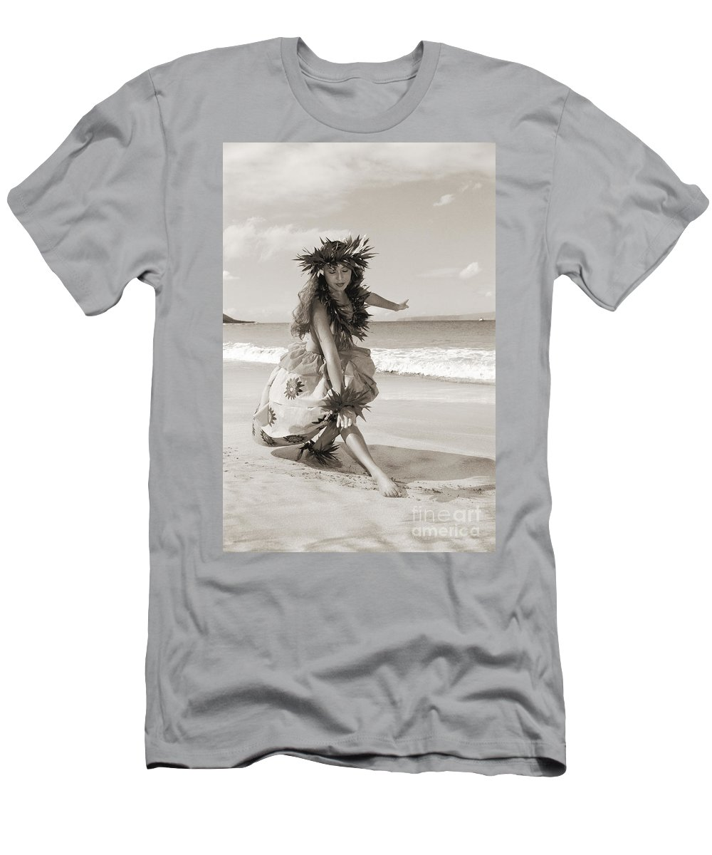 Active Men's T-Shirt (Athletic Fit) featuring the photograph Wahine Hula by Himani - Printscapes