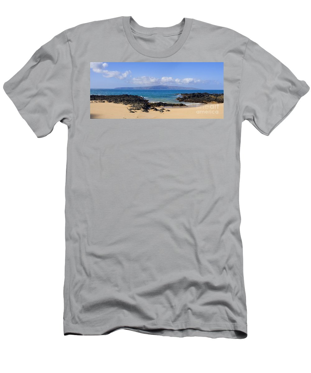 Afternoon Men's T-Shirt (Athletic Fit) featuring the photograph Wai Beach by Ron Dahlquist - Printscapes