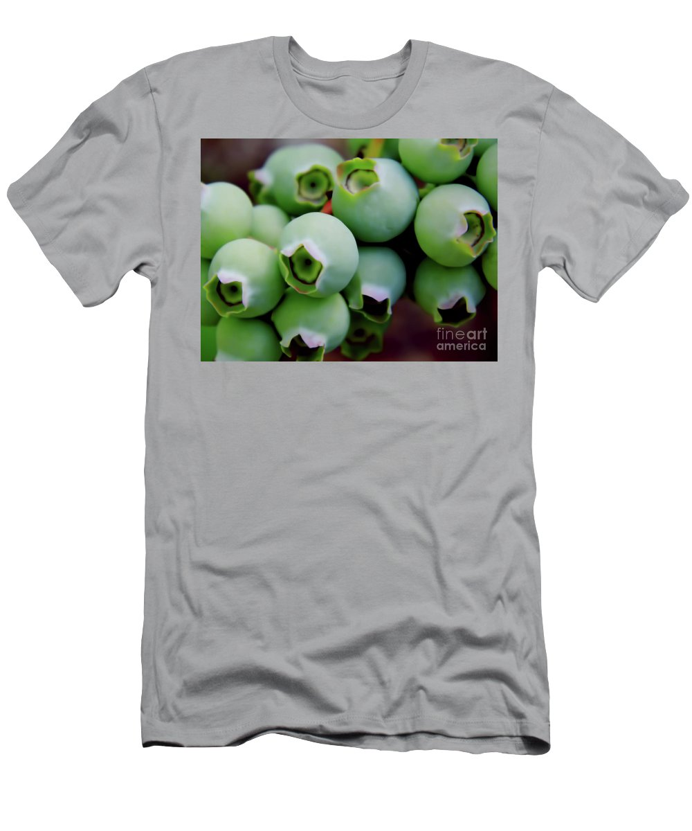 Blue Berries Men's T-Shirt (Athletic Fit) featuring the photograph Waiting On The Blue by D Hackett