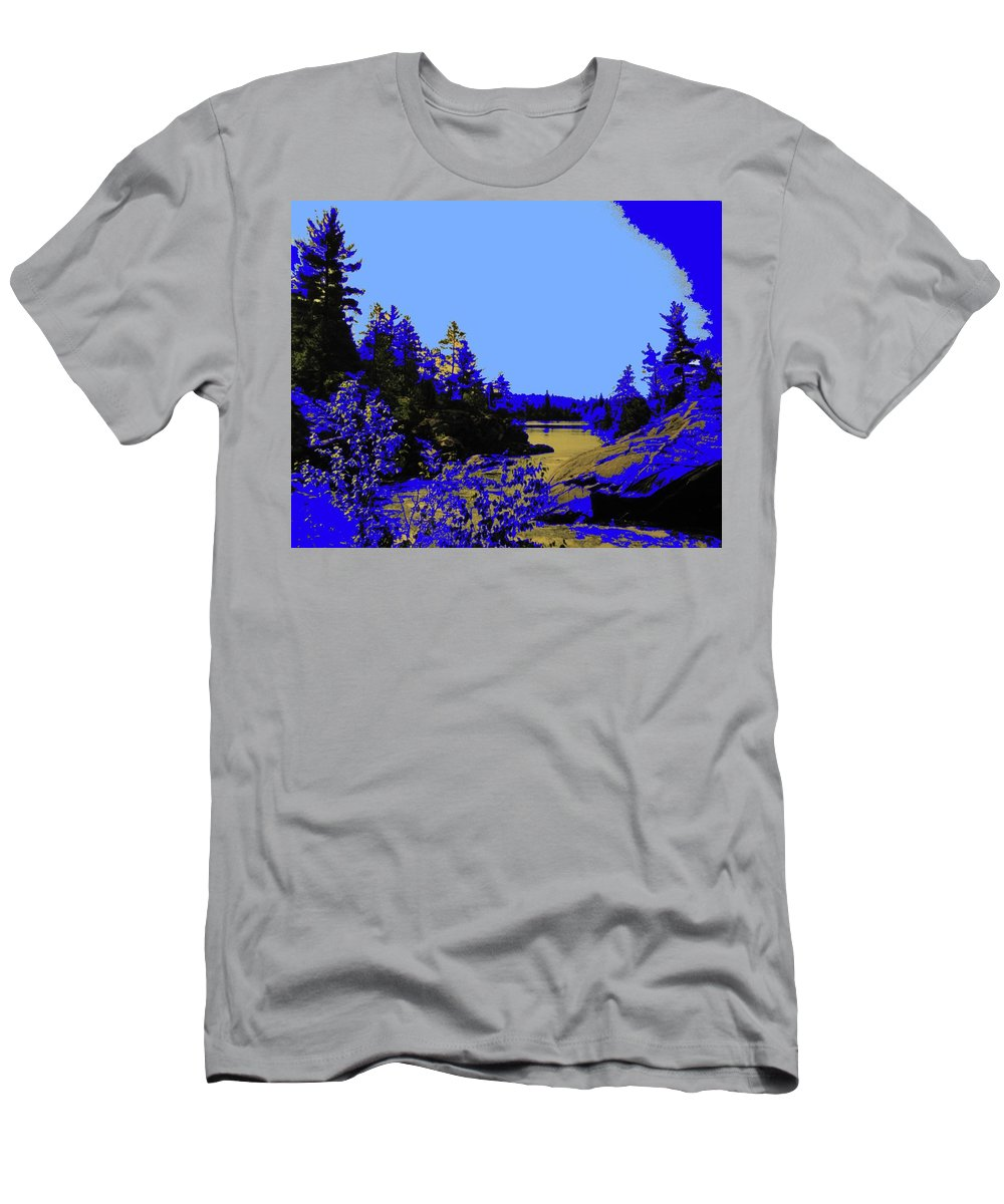 Northern Men's T-Shirt (Athletic Fit) featuring the photograph Wanapitae River Morning by Ian MacDonald