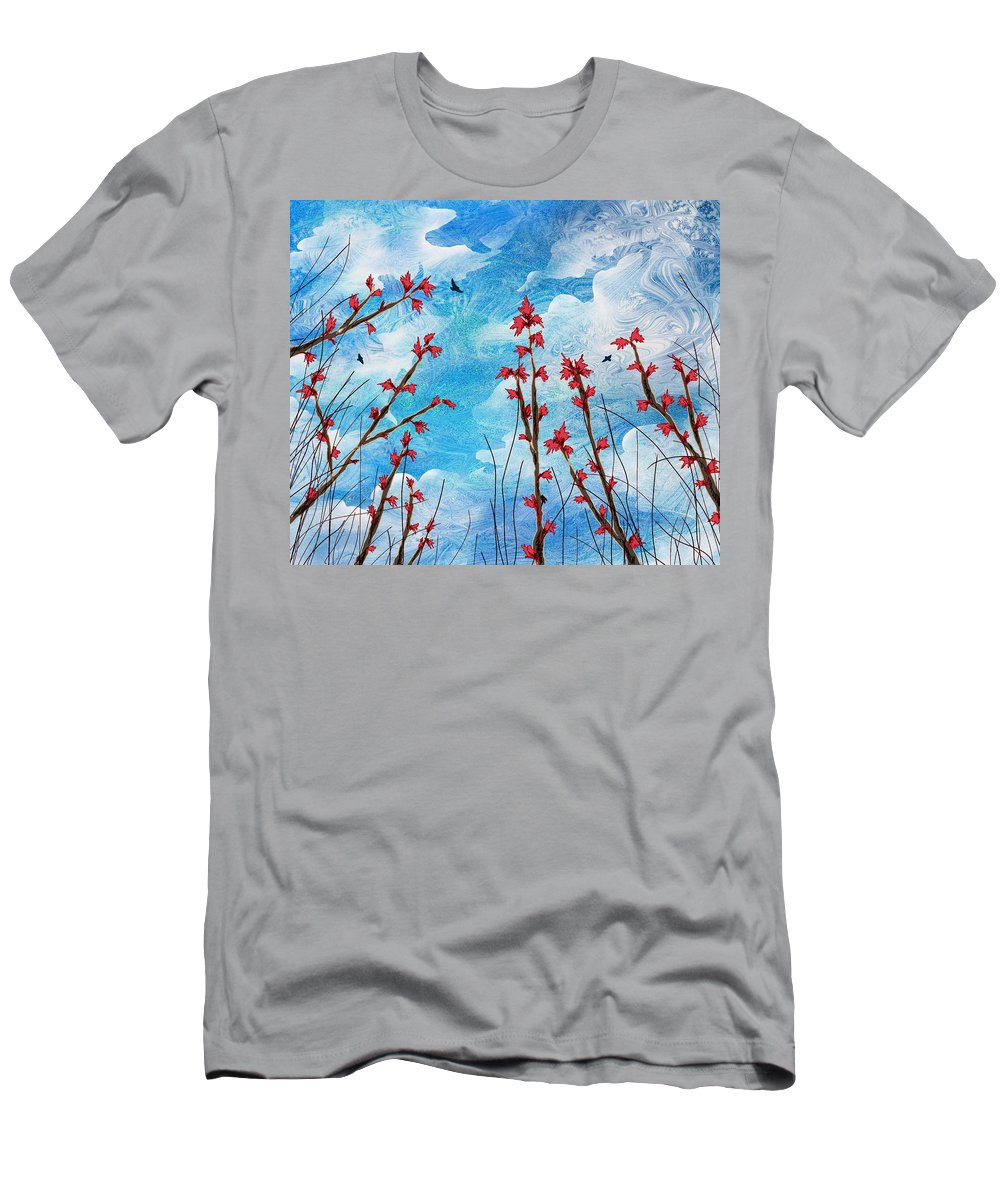 Abstract Men's T-Shirt (Athletic Fit) featuring the digital art Watching Clouds Go By by Rachel Christine Nowicki