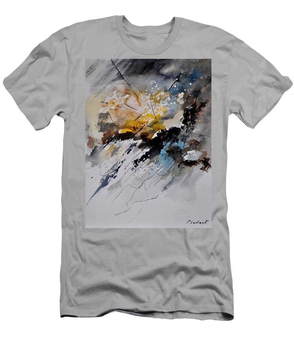 Abstract Men's T-Shirt (Athletic Fit) featuring the painting Watercolor 011130 by Pol Ledent