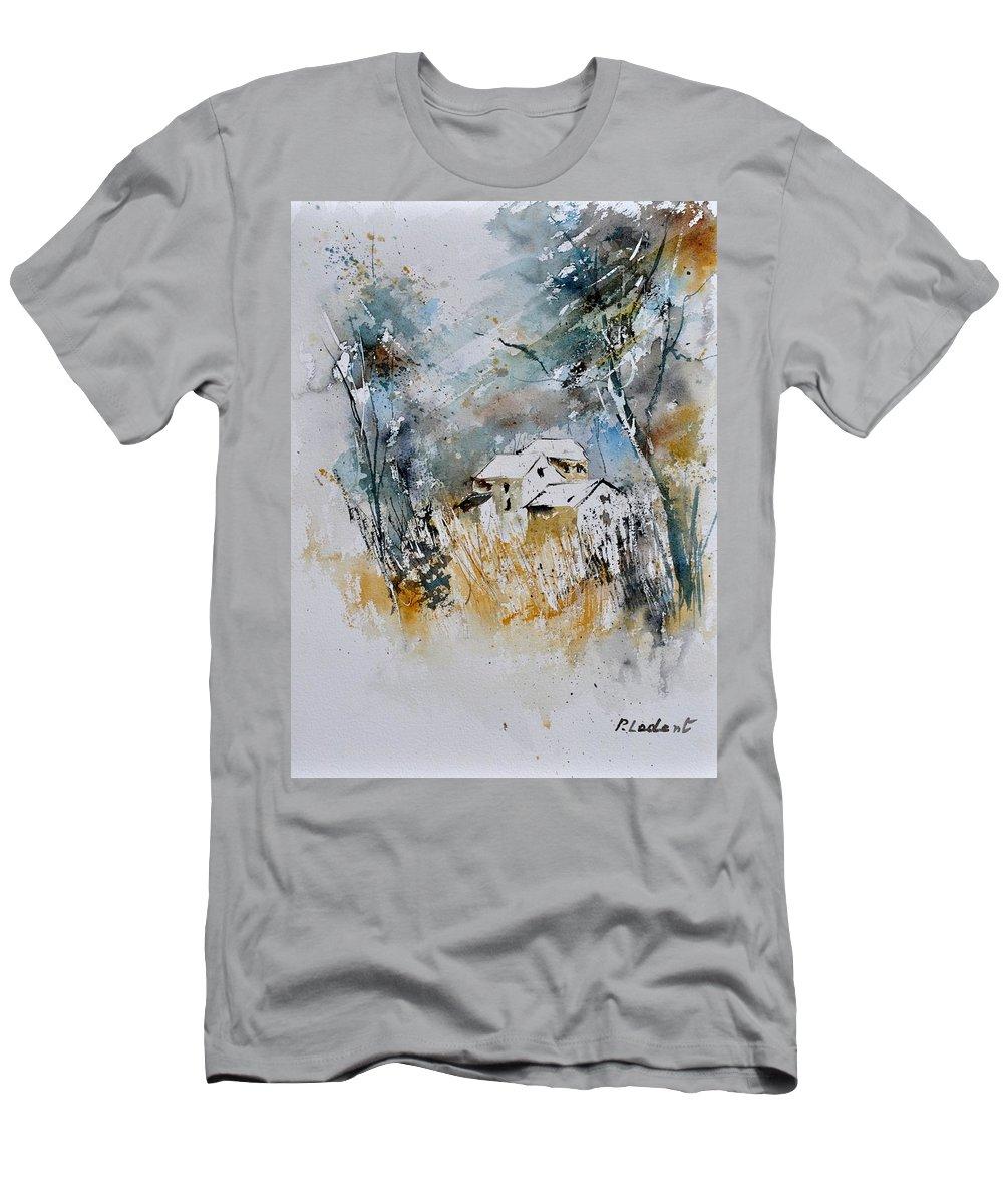Landscape Men's T-Shirt (Athletic Fit) featuring the painting Watercolor 015060 by Pol Ledent
