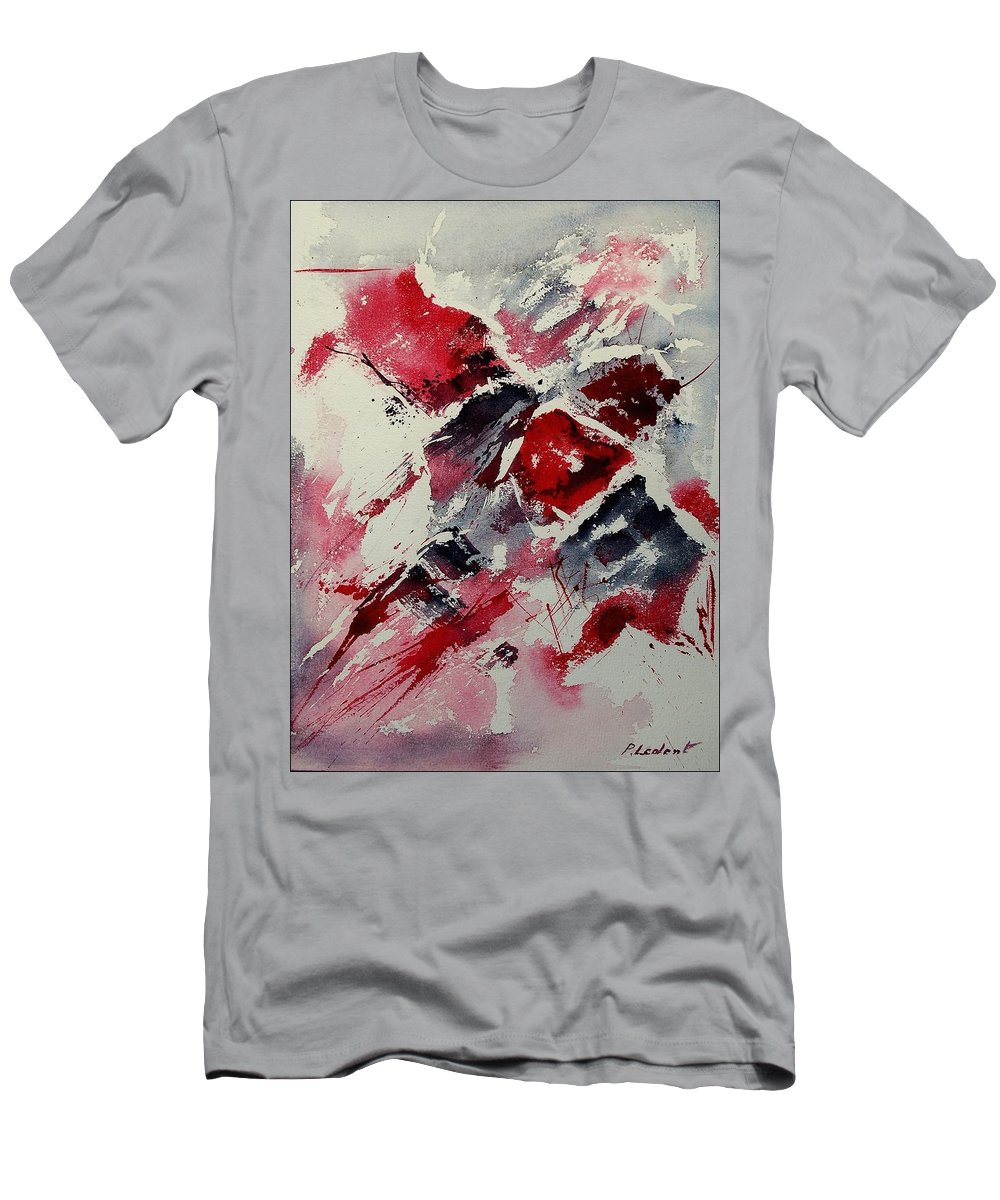 Abstract Men's T-Shirt (Athletic Fit) featuring the painting Watercolor 050407 by Pol Ledent
