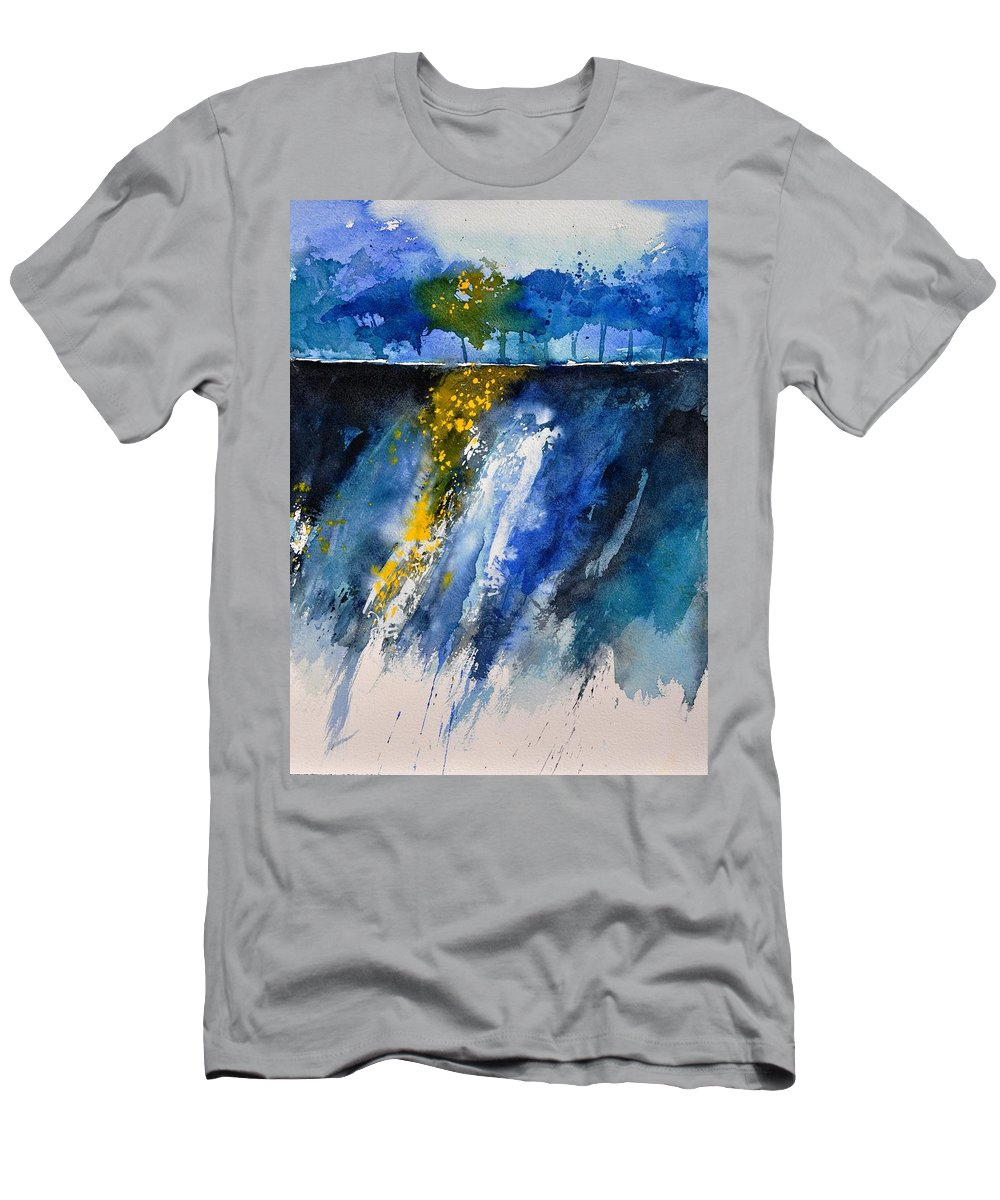 Abstract T-Shirt featuring the painting Watercolor 119001 by Pol Ledent