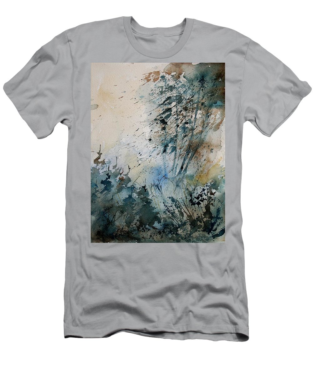 Tree Men's T-Shirt (Athletic Fit) featuring the painting Watercolor 148708 by Pol Ledent