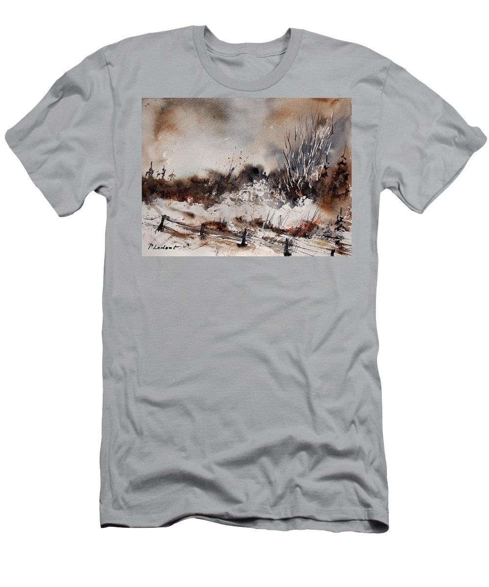 Winter Men's T-Shirt (Athletic Fit) featuring the painting Watercolor 150708 by Pol Ledent