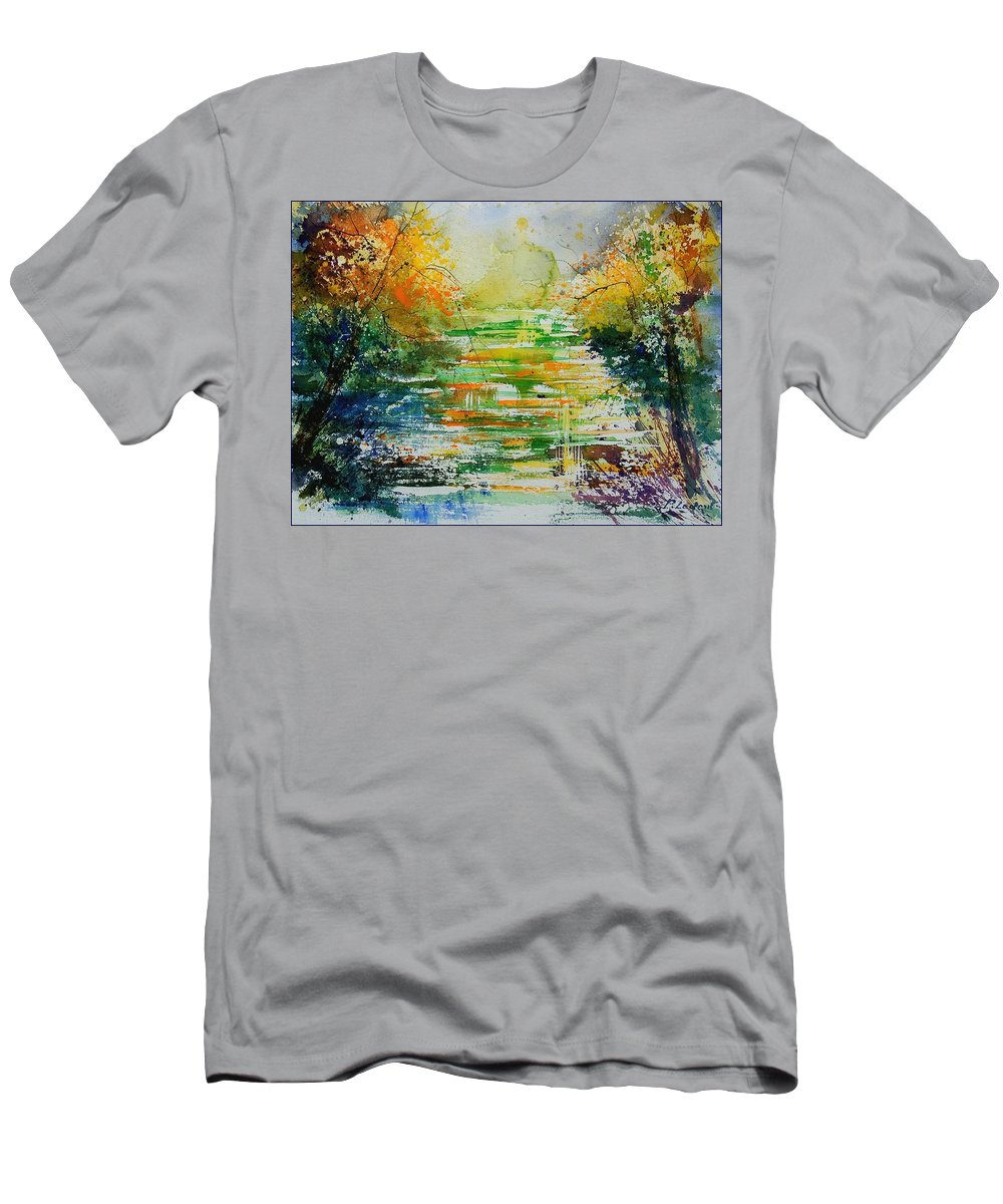 Water Men's T-Shirt (Athletic Fit) featuring the painting Watercolor 230507 by Pol Ledent