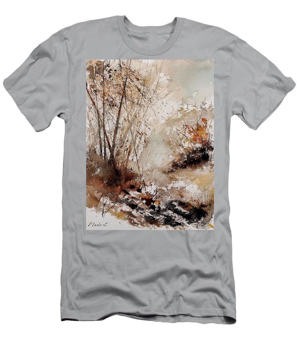 Tree Men's T-Shirt (Athletic Fit) featuring the painting Watercolor 290808 by Pol Ledent