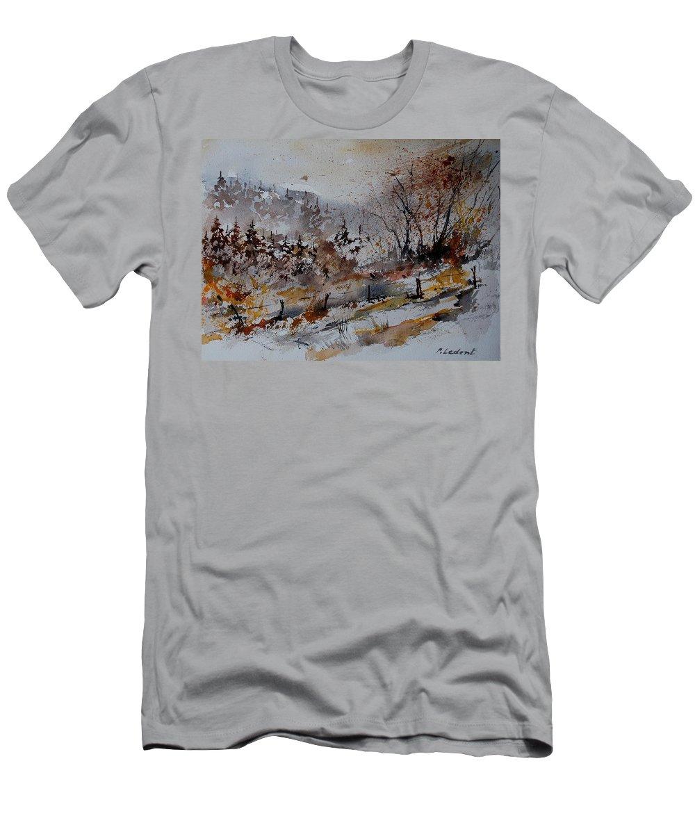 Landscape Men's T-Shirt (Athletic Fit) featuring the painting Watercolor 900140 by Pol Ledent