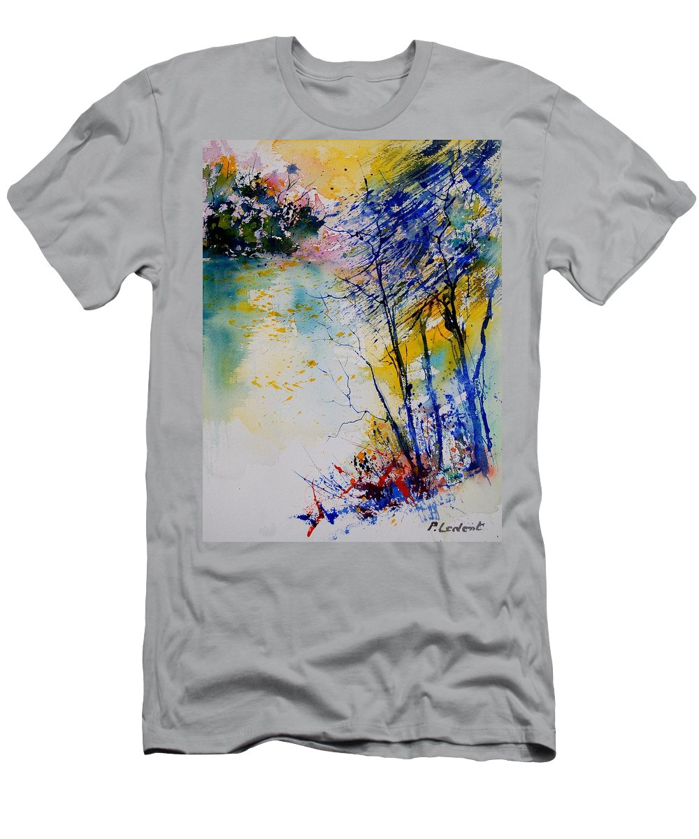 Water Men's T-Shirt (Athletic Fit) featuring the painting Watercolor 902081 by Pol Ledent