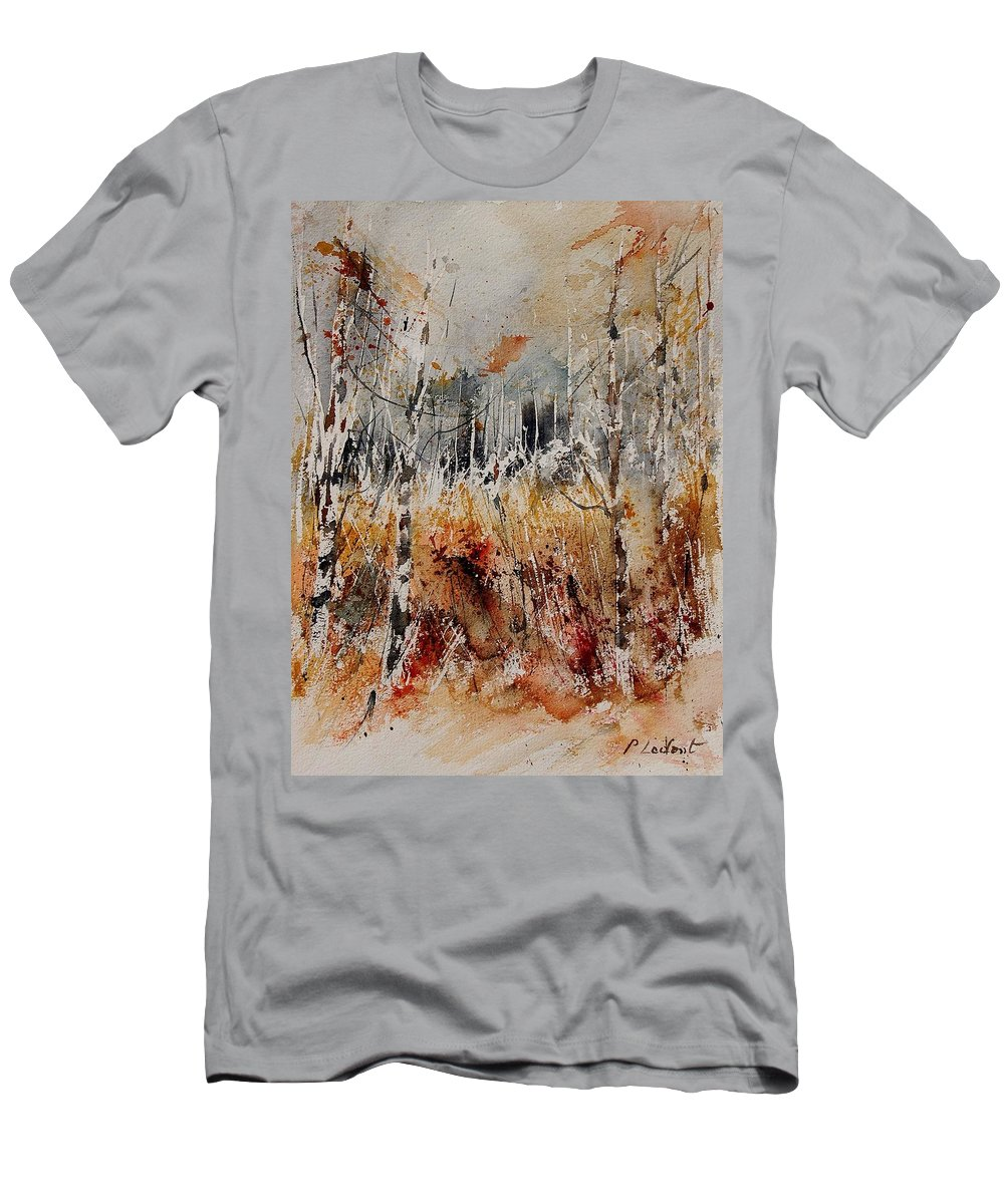 Tree Men's T-Shirt (Athletic Fit) featuring the painting Watercolor 904012 by Pol Ledent