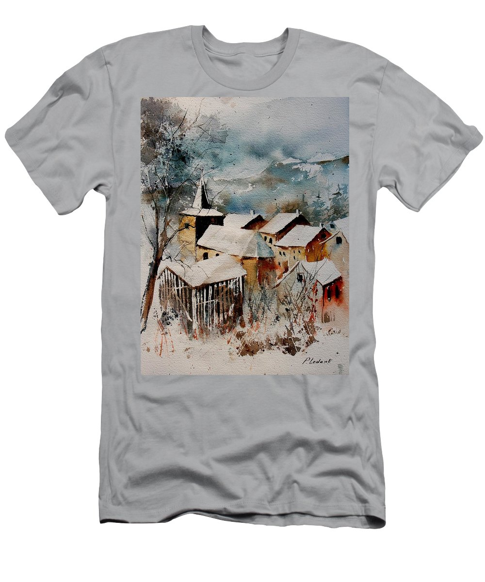 Winter Men's T-Shirt (Athletic Fit) featuring the painting Watercolor 9040122 by Pol Ledent