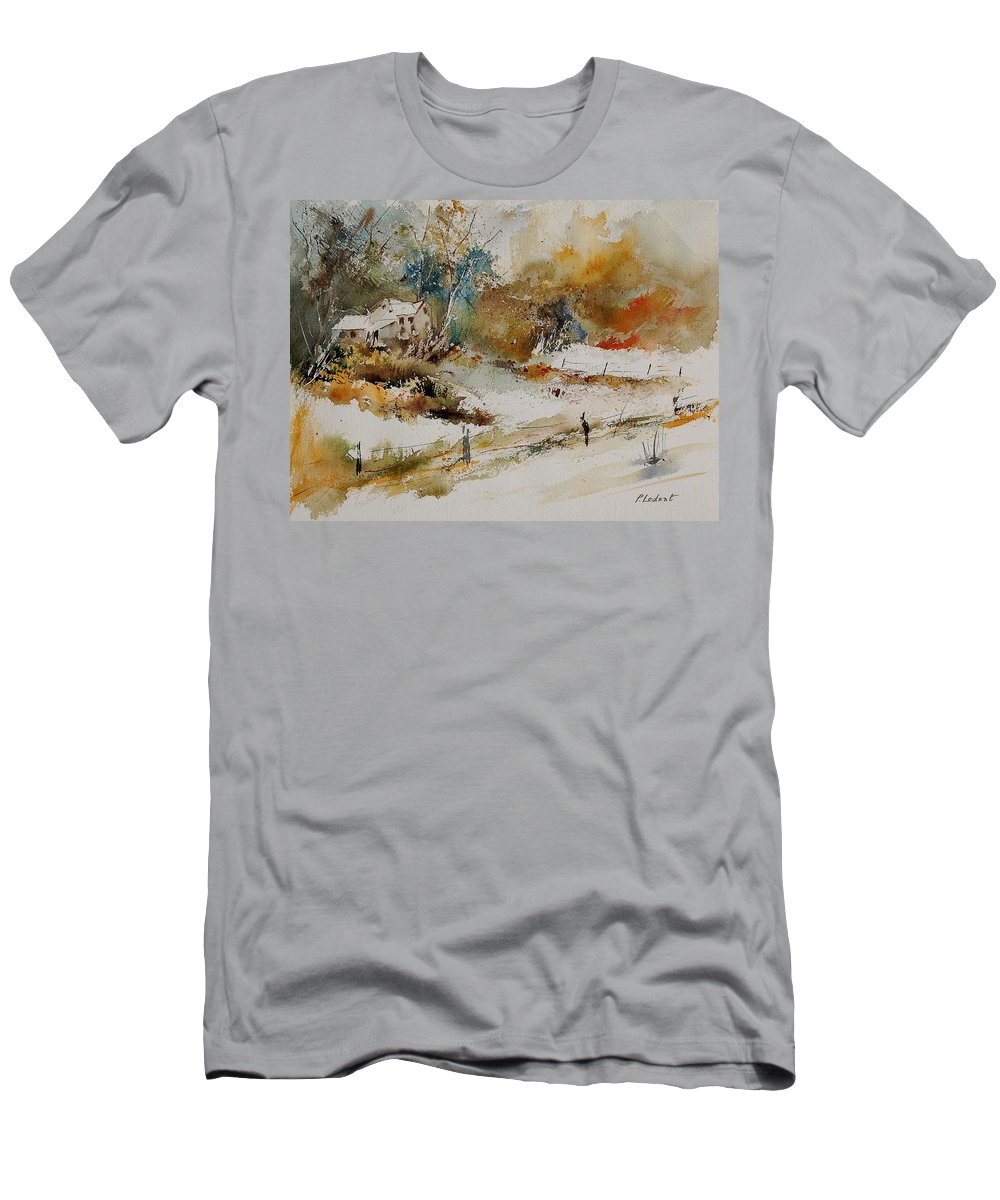 Tree Men's T-Shirt (Athletic Fit) featuring the painting Watercolor 905061 by Pol Ledent