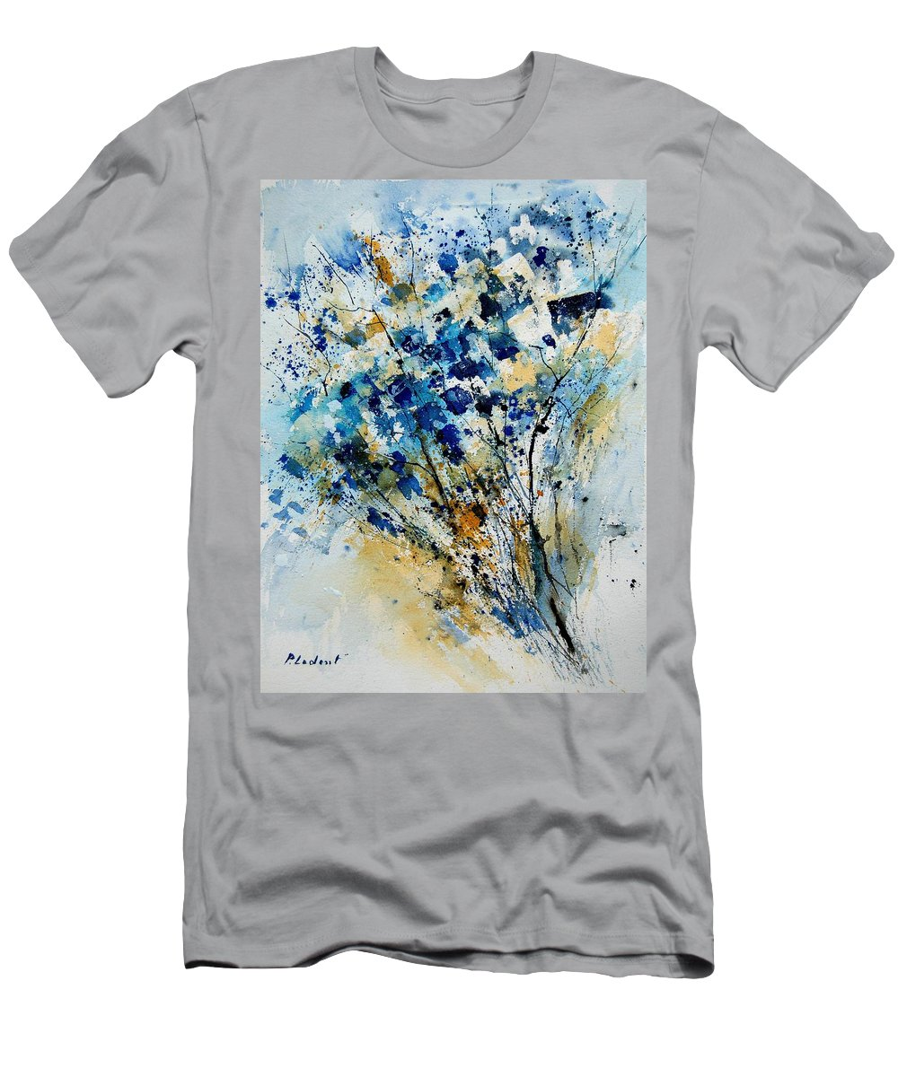 Flowers Men's T-Shirt (Athletic Fit) featuring the painting Watercolor 907003 by Pol Ledent
