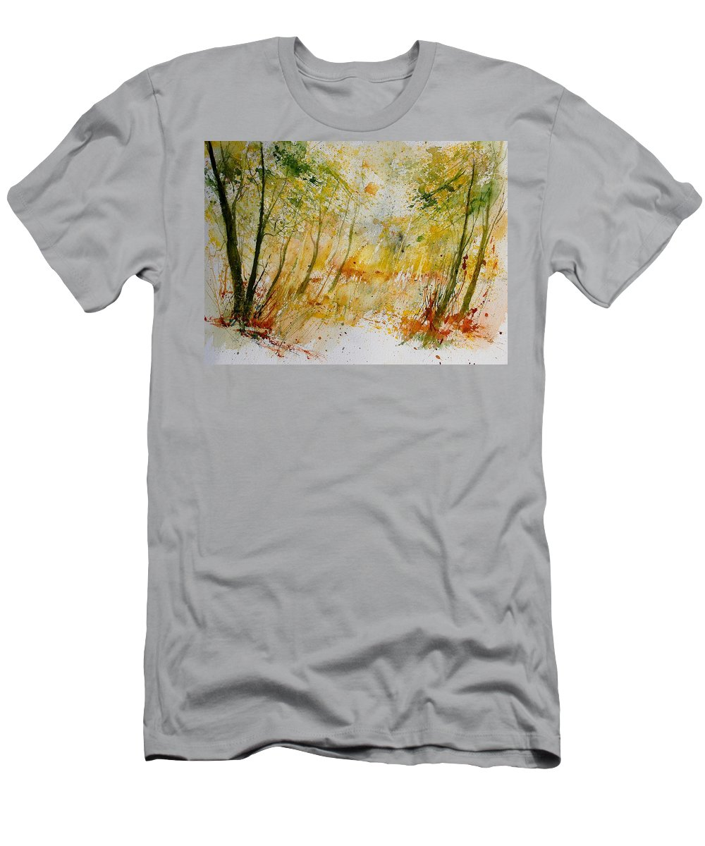 Tree Men's T-Shirt (Athletic Fit) featuring the painting Watercolor 908012 by Pol Ledent