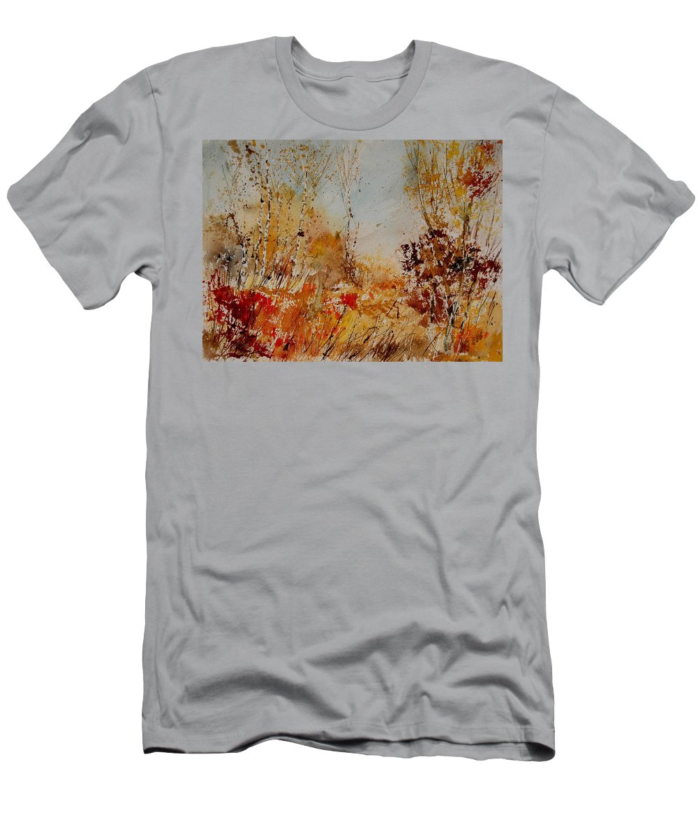 Tree Men's T-Shirt (Athletic Fit) featuring the painting Watercolor 908031 by Pol Ledent