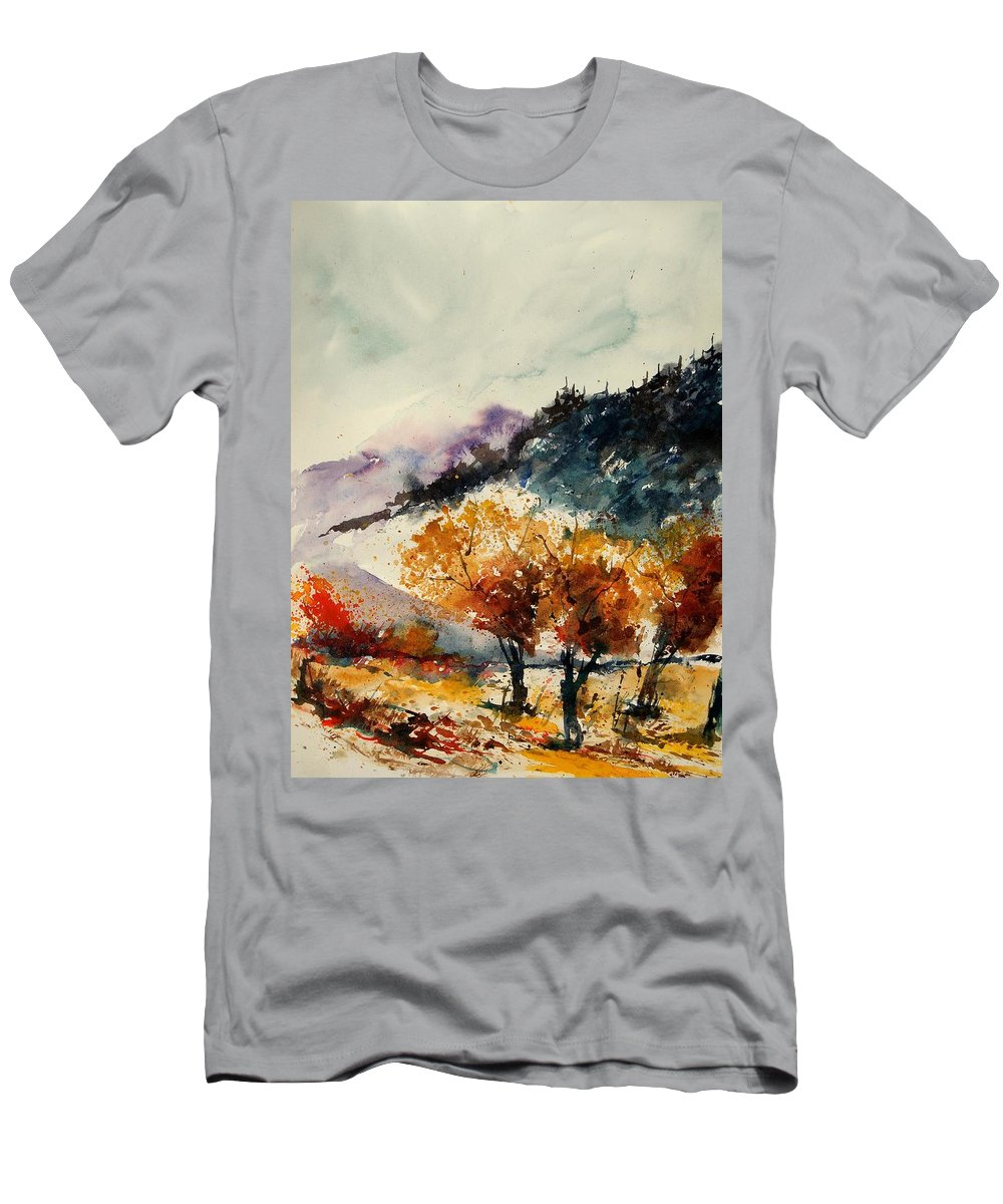 Tree Men's T-Shirt (Athletic Fit) featuring the painting Watercolor 908041 by Pol Ledent