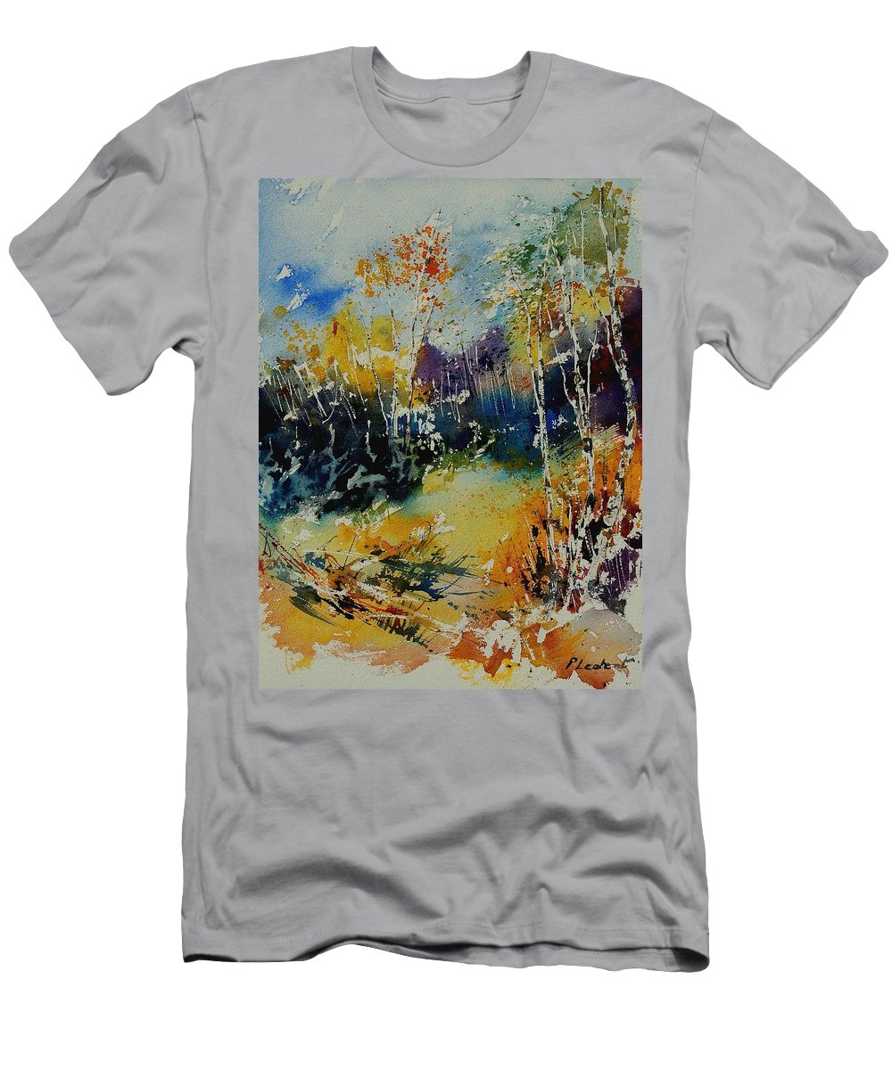 Tree Men's T-Shirt (Athletic Fit) featuring the painting Watercolor 909052 by Pol Ledent