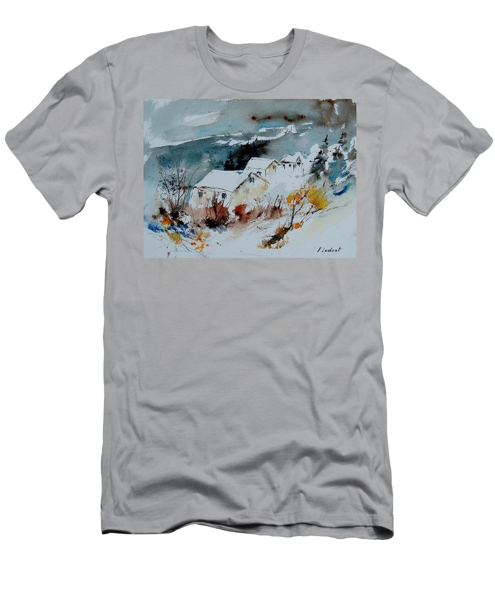 Winter Men's T-Shirt (Athletic Fit) featuring the painting Watercolor 9090723 by Pol Ledent