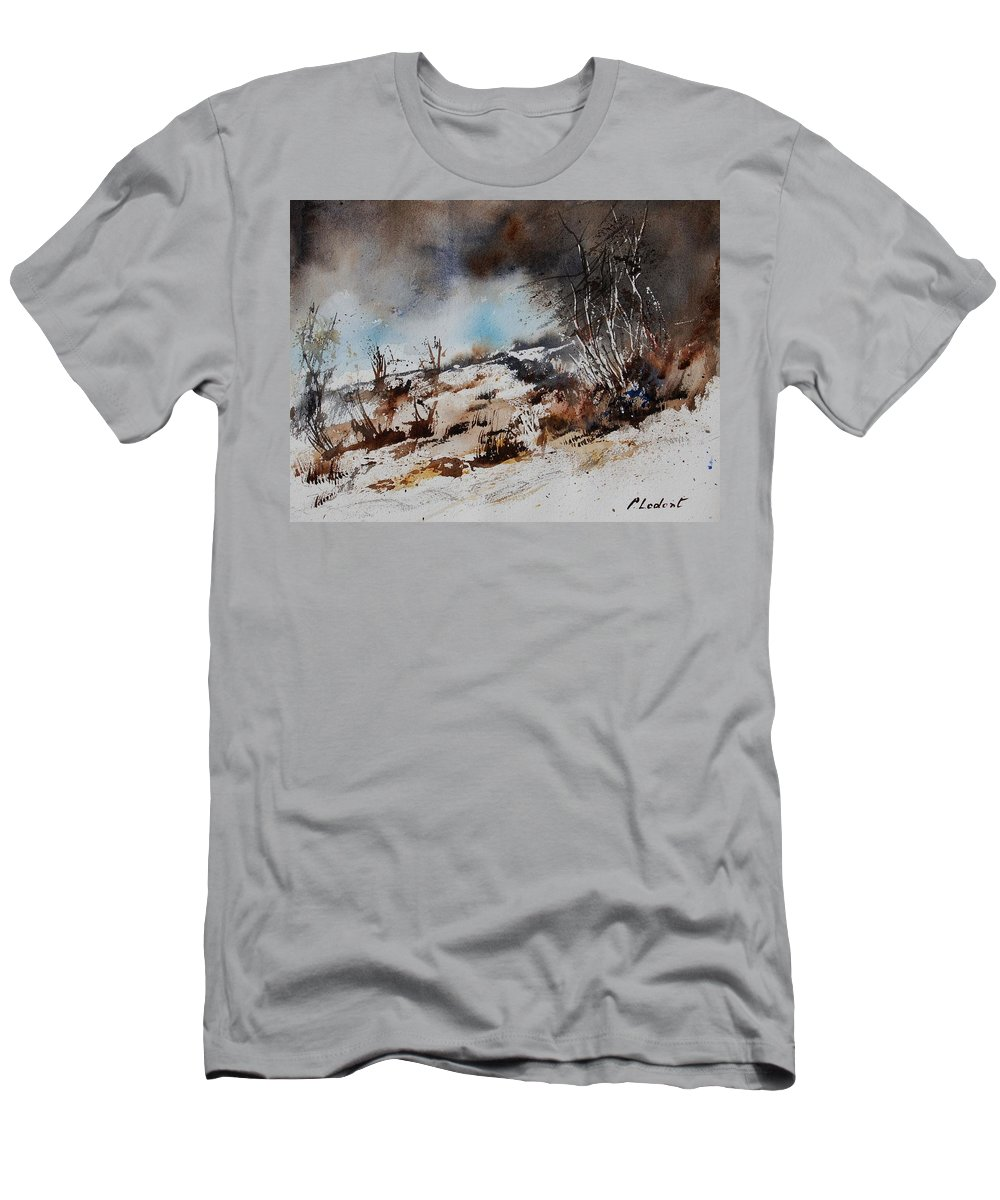 River Men's T-Shirt (Athletic Fit) featuring the painting Watercolor Jjook by Pol Ledent