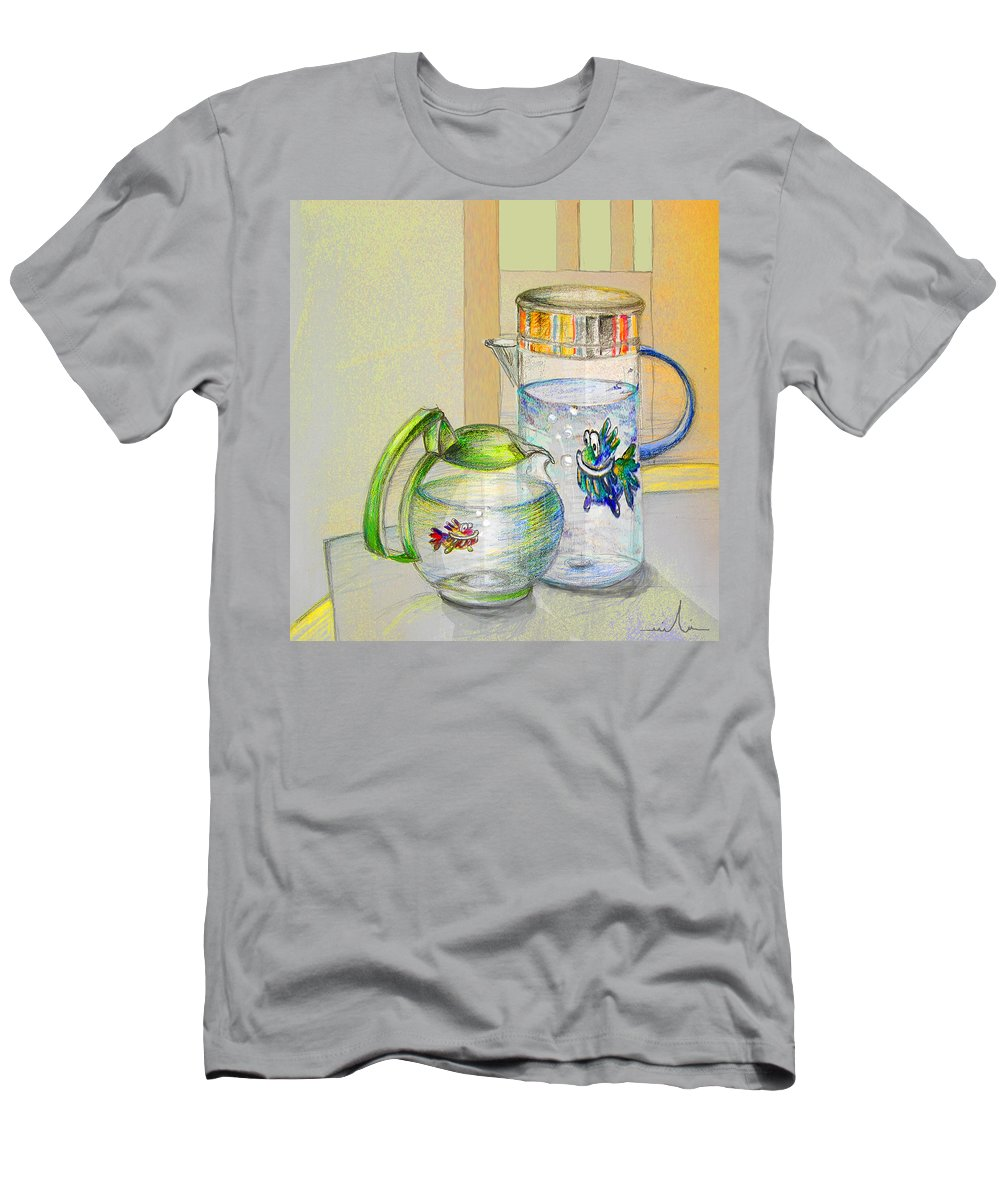 Still Life Men's T-Shirt (Athletic Fit) featuring the painting Waterfest Love by Miki De Goodaboom