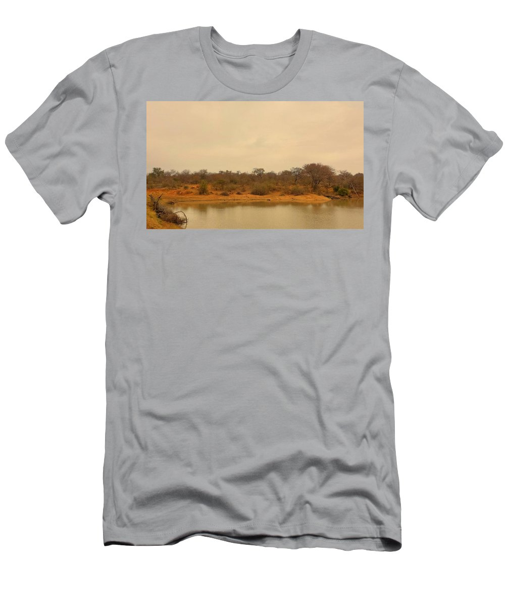 Water Men's T-Shirt (Athletic Fit) featuring the photograph Watering Hole by Lisa Byrne