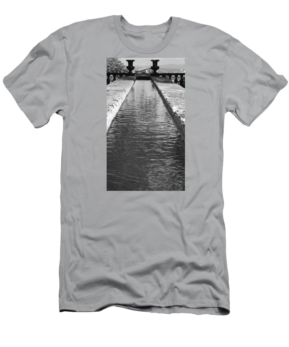 Water Men's T-Shirt (Athletic Fit) featuring the photograph Waterway by Valentino Visentini