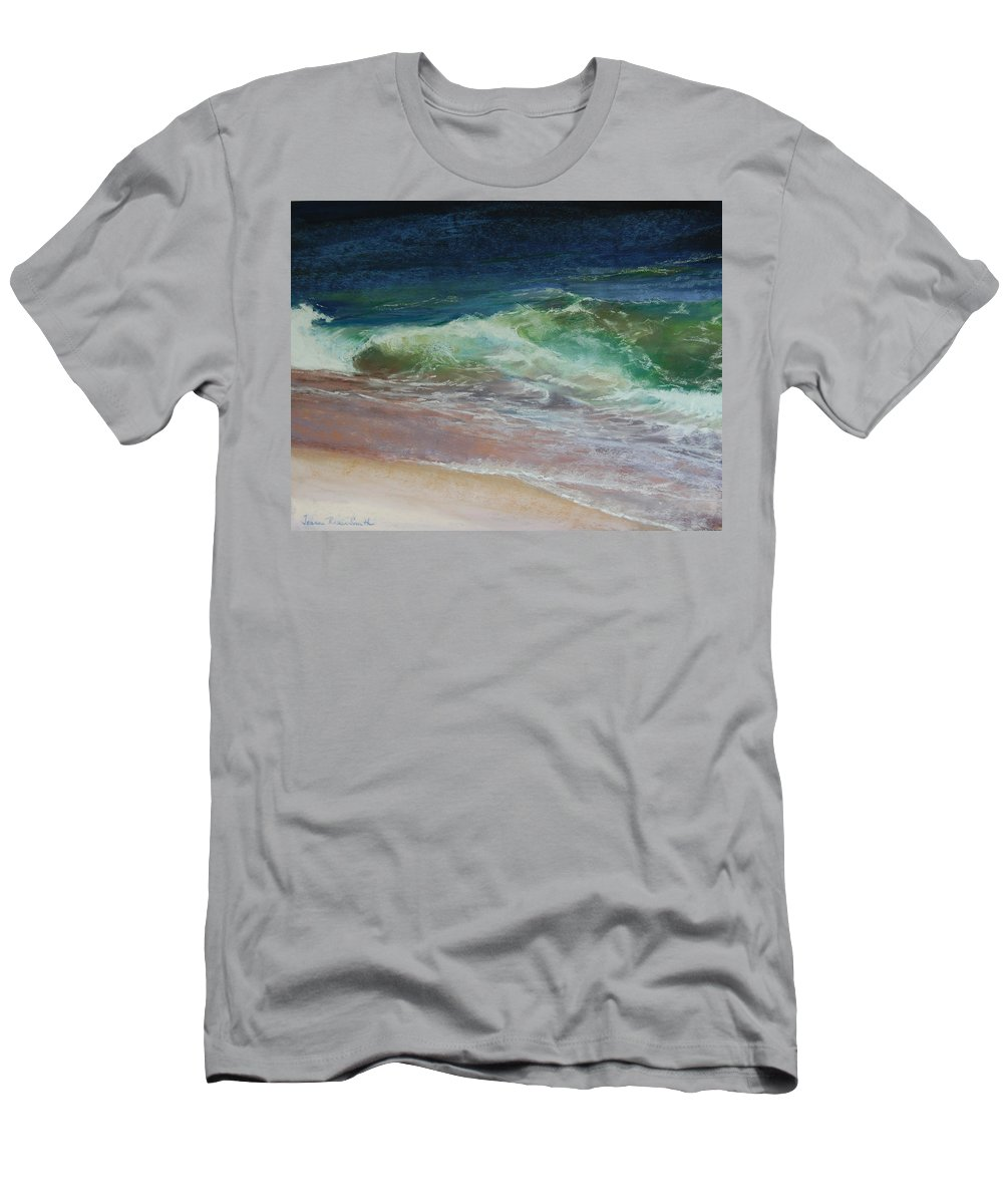 Wave Men's T-Shirt (Athletic Fit) featuring the pastel Wauwinet Wave IIi by Jeanne Rosier Smith