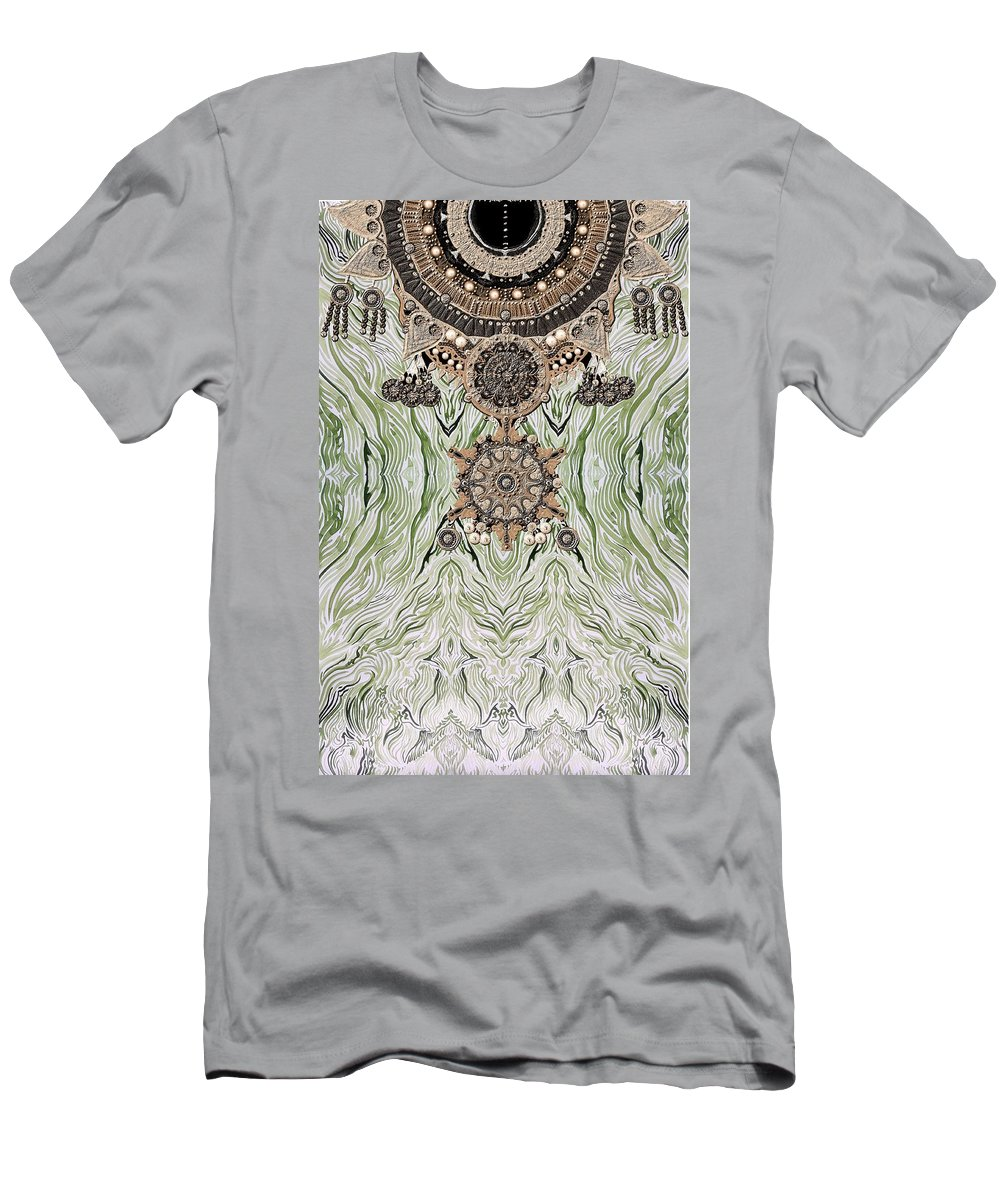 Wavw Men's T-Shirt (Athletic Fit) featuring the digital art Wave And Jewels by Sandrine Kespi
