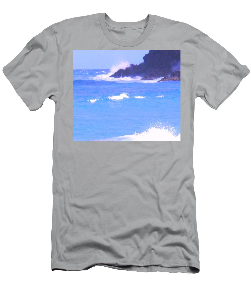 Ocean Men's T-Shirt (Athletic Fit) featuring the photograph Waves Crashing by Ian MacDonald