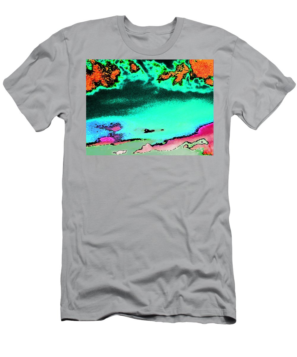 Abstract Men's T-Shirt (Athletic Fit) featuring the digital art Weather by Lenore Senior