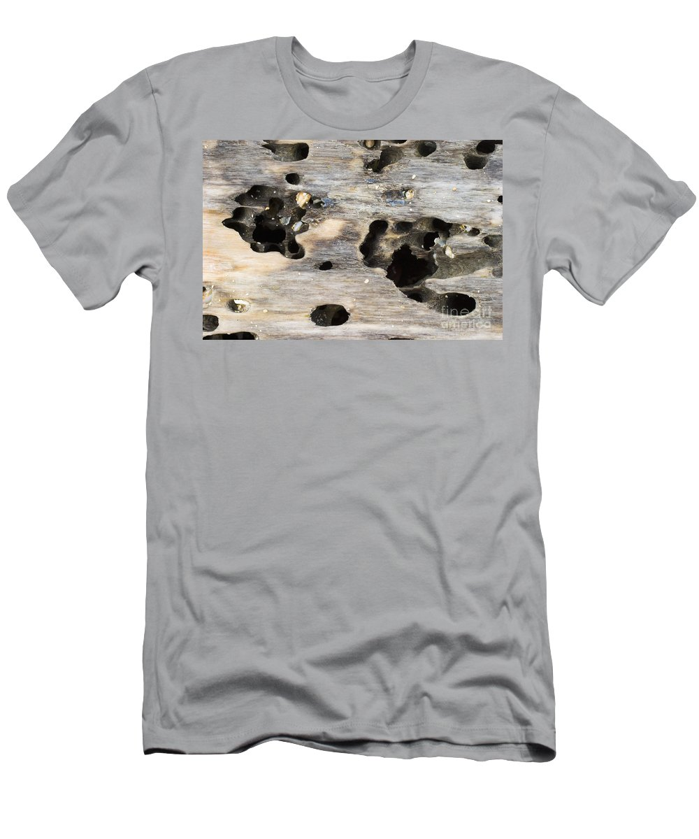Background Men's T-Shirt (Athletic Fit) featuring the photograph Weathered Driftwood by Tomas del Amo - Printscapes