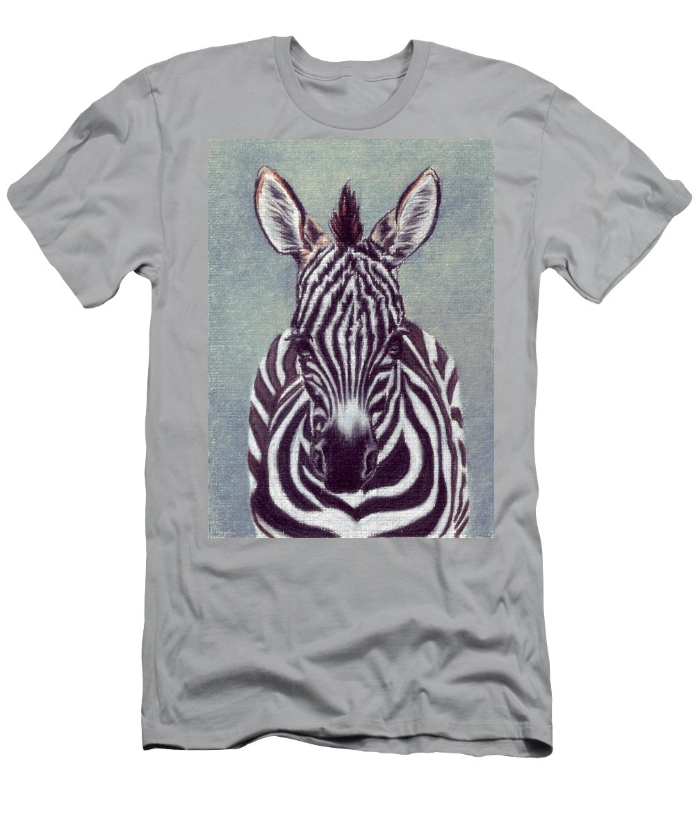 Zebra Men's T-Shirt (Athletic Fit) featuring the drawing Wee Zeeb by Kristen Wesch