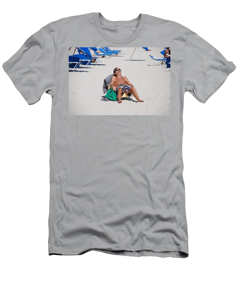 Beach Men's T-Shirt (Athletic Fit) featuring the photograph Weekend At Bernies by Rob Hans