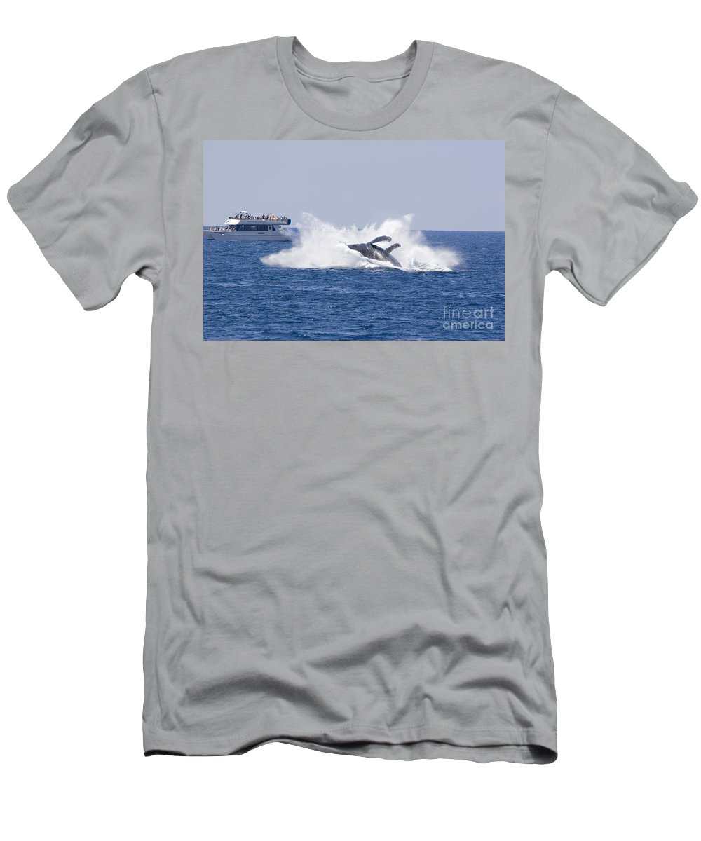 Amaze Men's T-Shirt (Athletic Fit) featuring the photograph Whalewatcher Show by Dave Fleetham - Printscapes