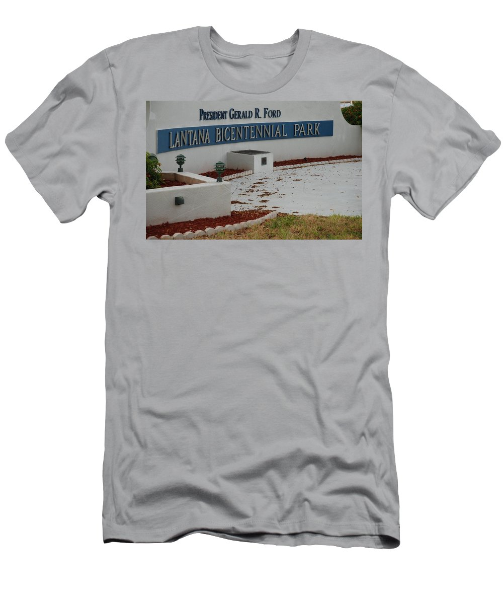 Landscapes Men's T-Shirt (Athletic Fit) featuring the photograph What It Says by Rob Hans