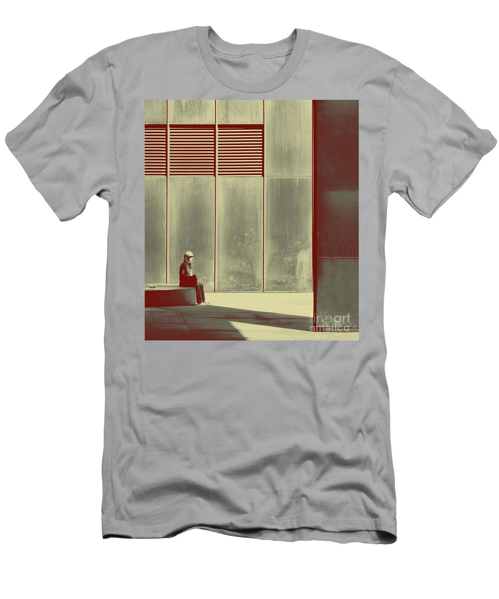 Alone Men's T-Shirt (Athletic Fit) featuring the photograph When Shes Gone by Dana DiPasquale