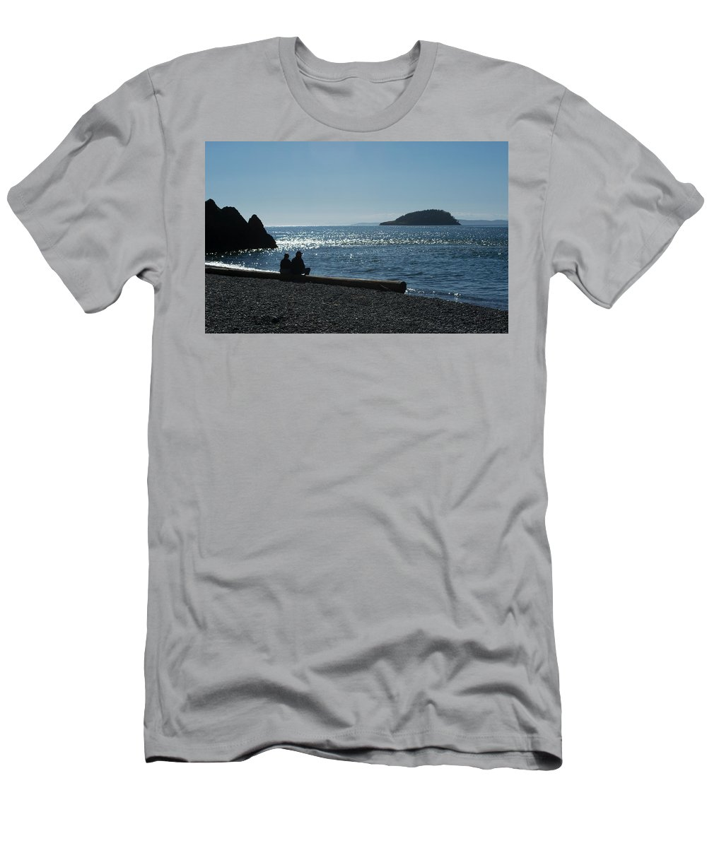 Washington Men's T-Shirt (Athletic Fit) featuring the photograph Whidbey Island Beach by Linda Kerkau