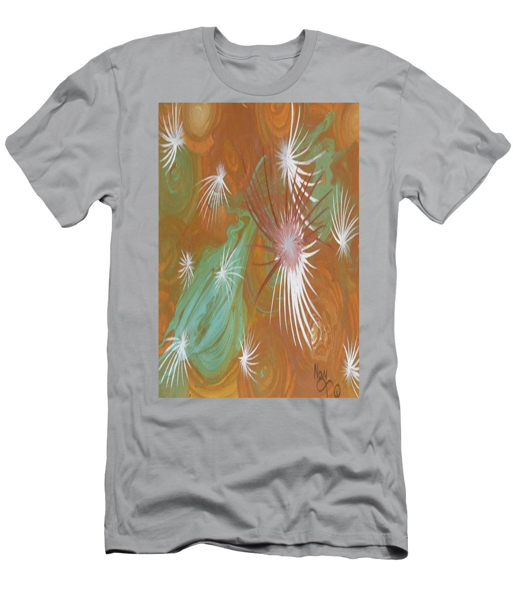 Meditation Men's T-Shirt (Athletic Fit) featuring the painting Whispers Mandala by Novy Rich