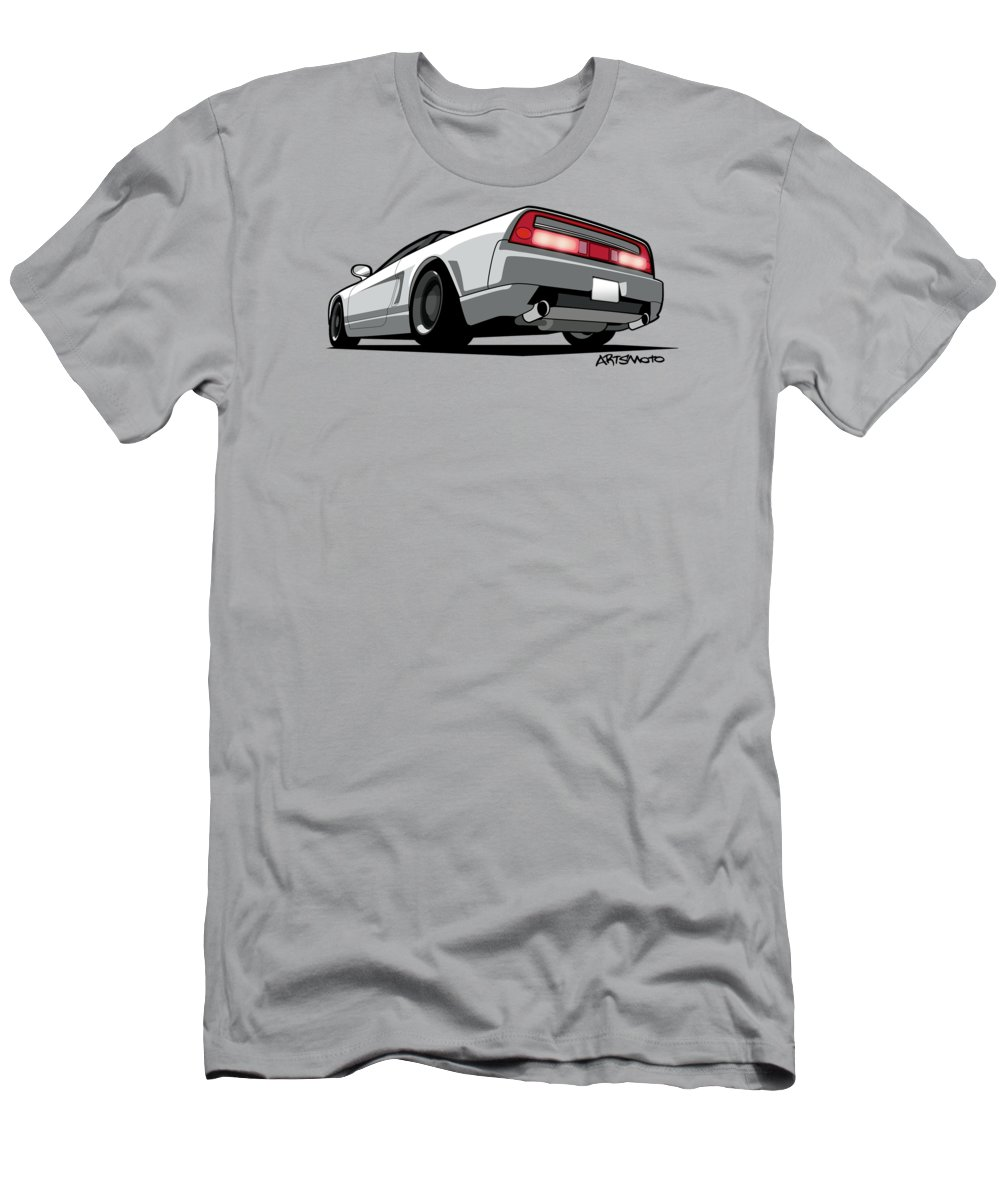 Honda Men's T-Shirt (Athletic Fit) featuring the digital art White Honda Acura Nsx by Monkey Crisis On Mars